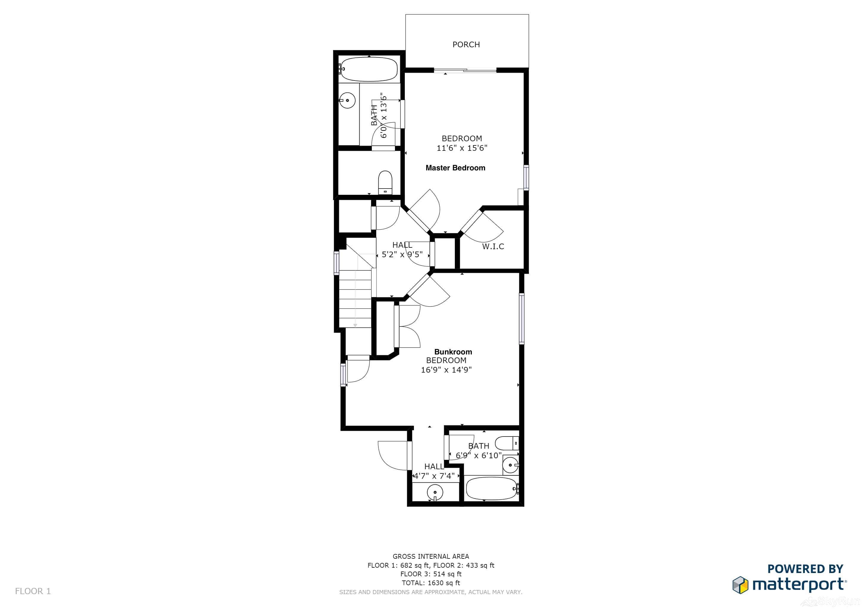 Old Town Lookout 1018L Floor Plan Lower Level