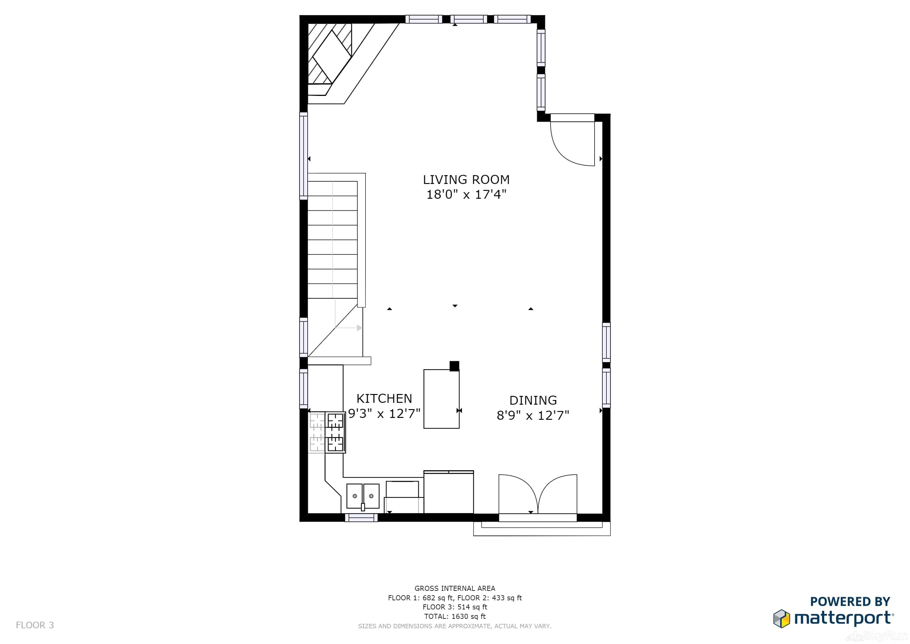 Old Town Lookout 1018L Floor Plan Upper Level