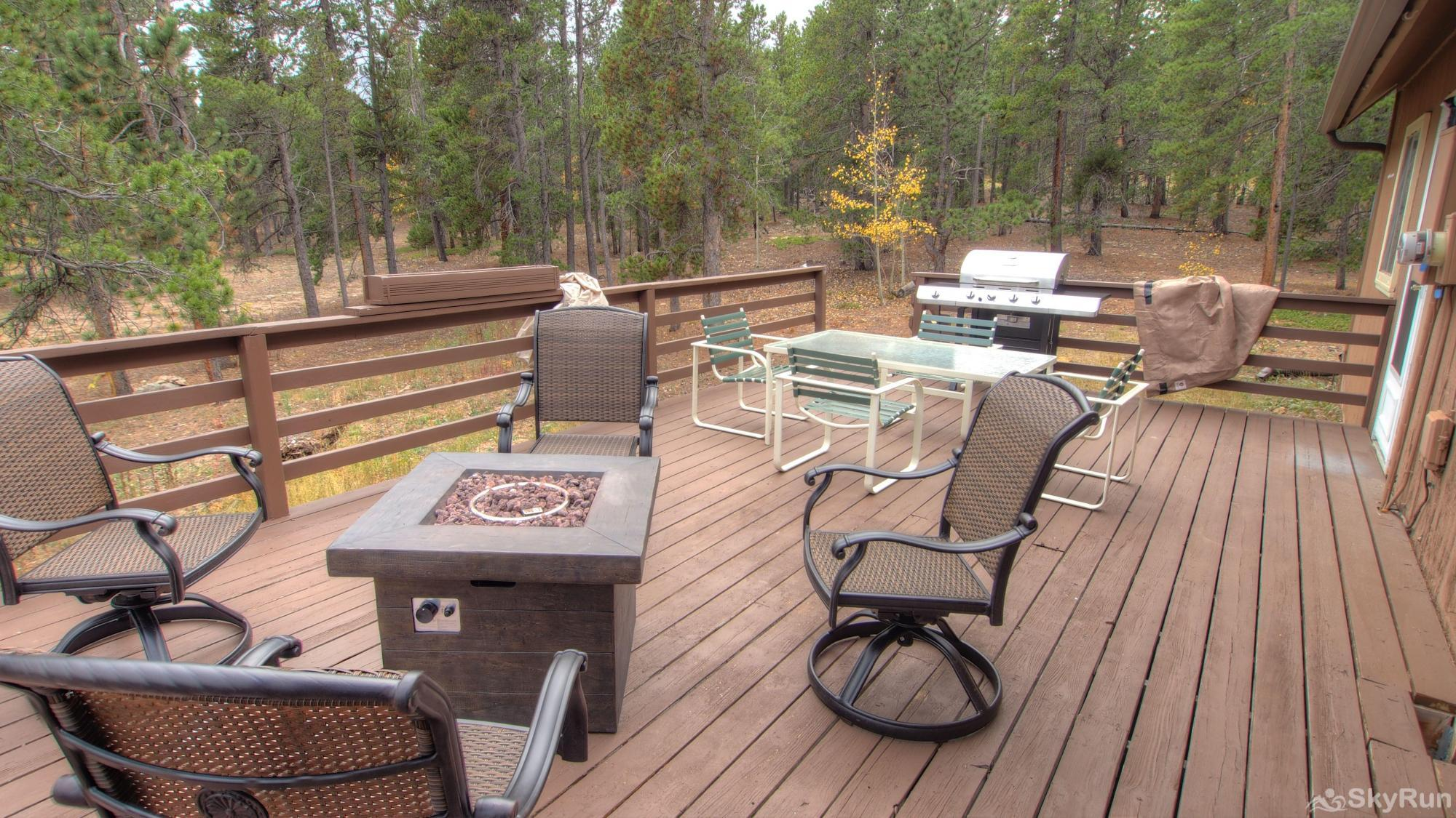 Dory Lakes Cabin New Deck Furniture - Fire Pit and large Grill