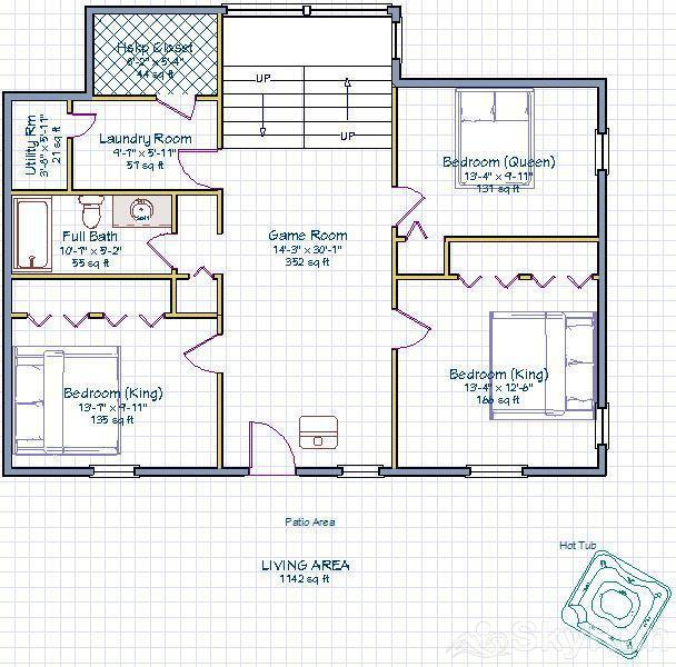 Indian Peaks Lodge Ground floor plan