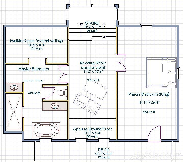 Indian Peaks Lodge Top Floor Plan