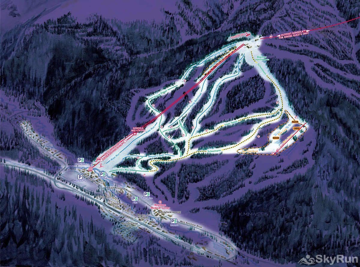 8452 Dakota Lodge night skiing map