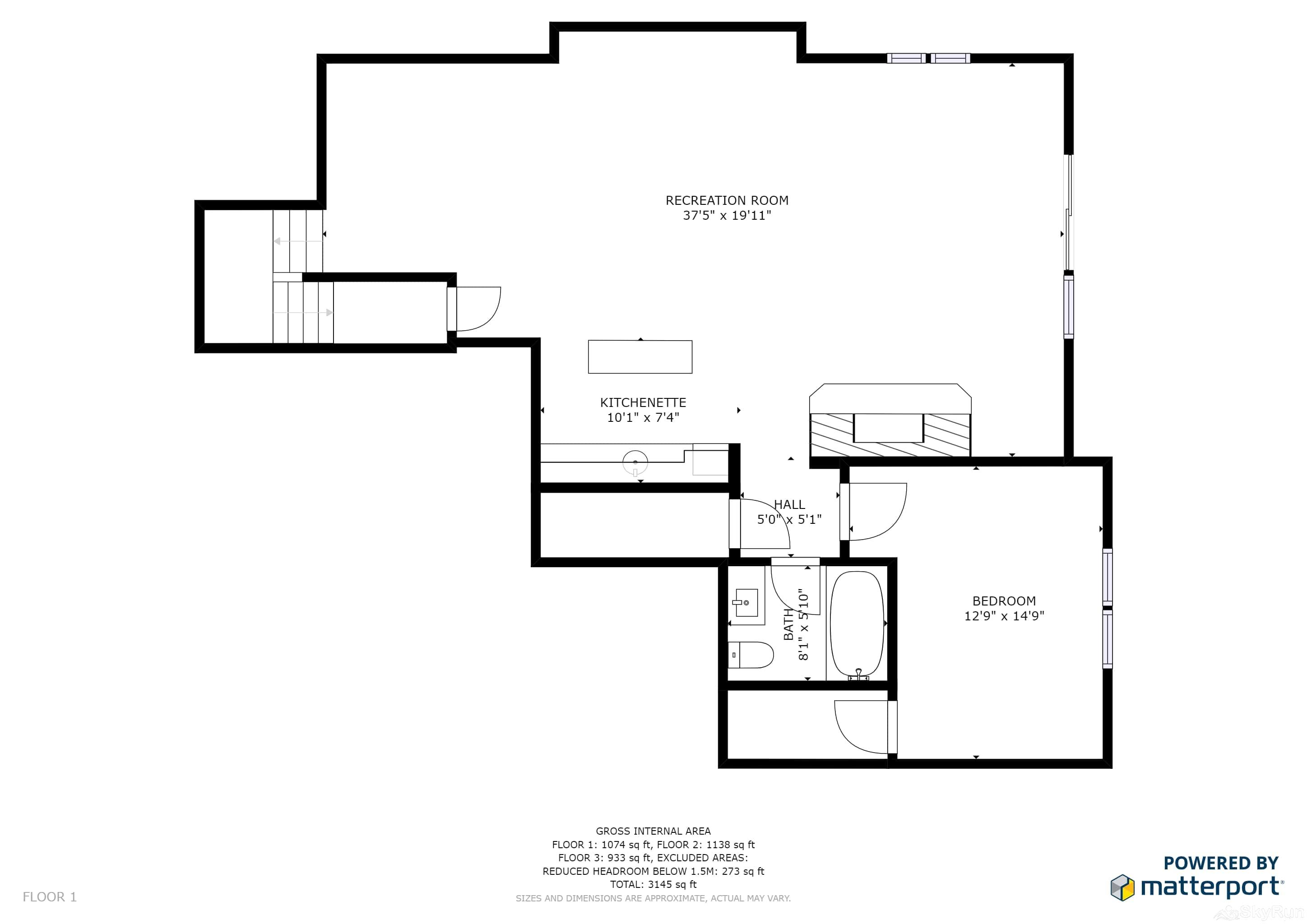 Mountain Home Retreat 1235H Floor Plan Lower Level