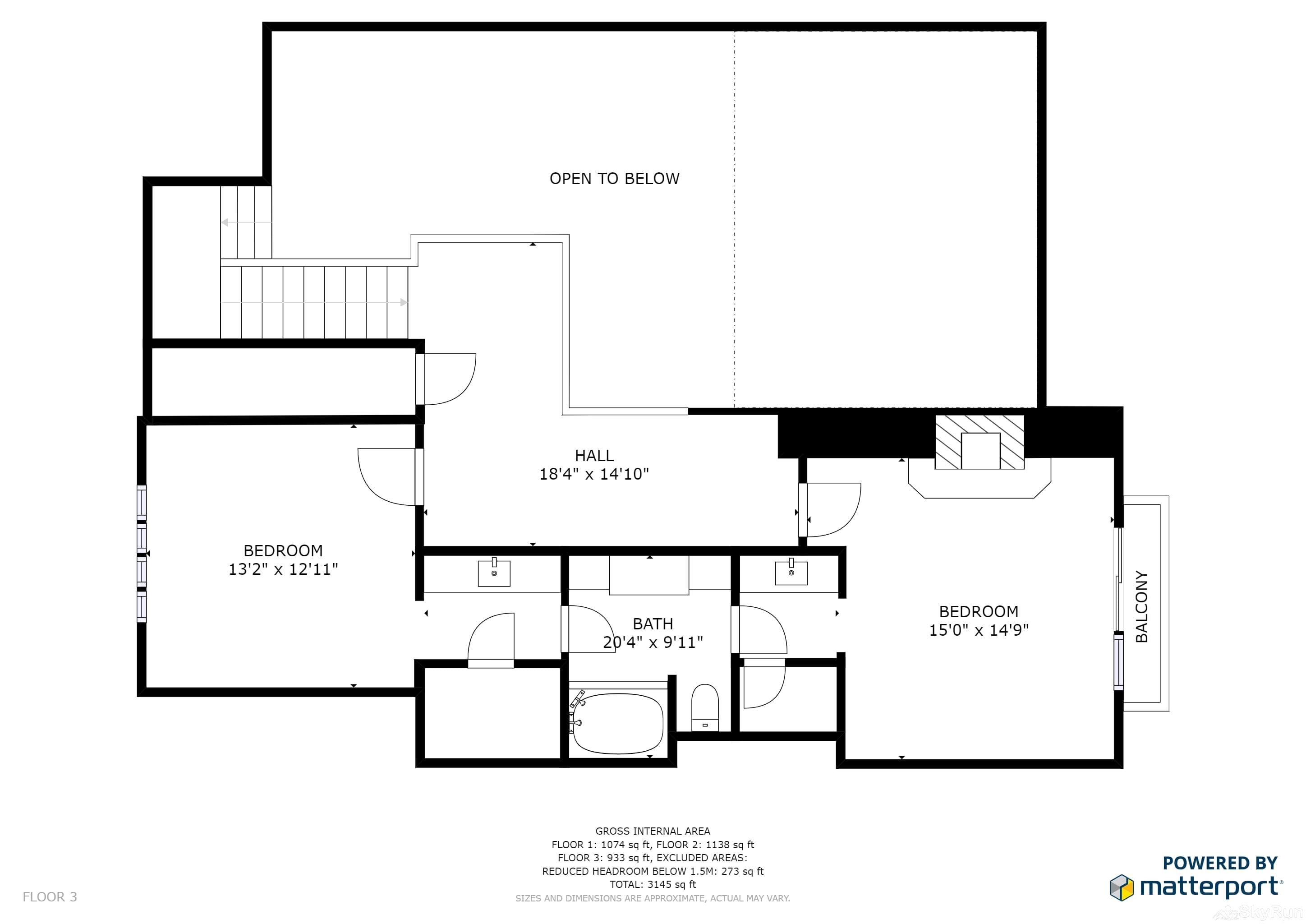 Mountain Home Retreat 1235H Floor Plan Upper Level