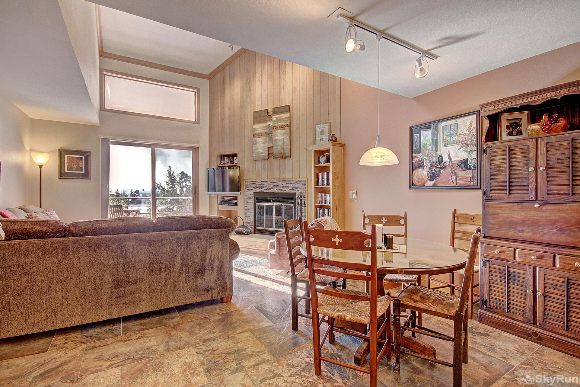 413 Ski Run Living Room and Dining Area