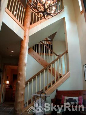 1986 Starfire Townhomes Atrium and Staircase