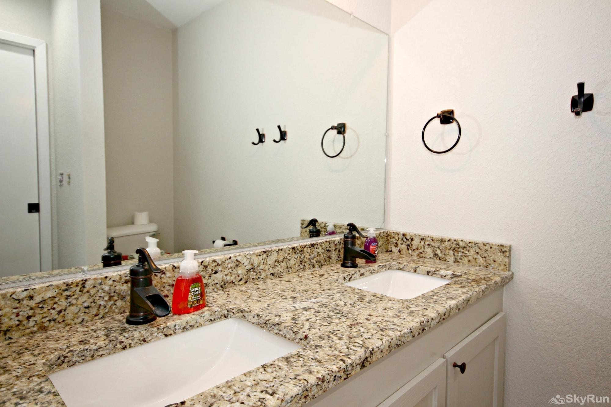SUNSET VISTAS Master Bath with Granite and Dual Vanity