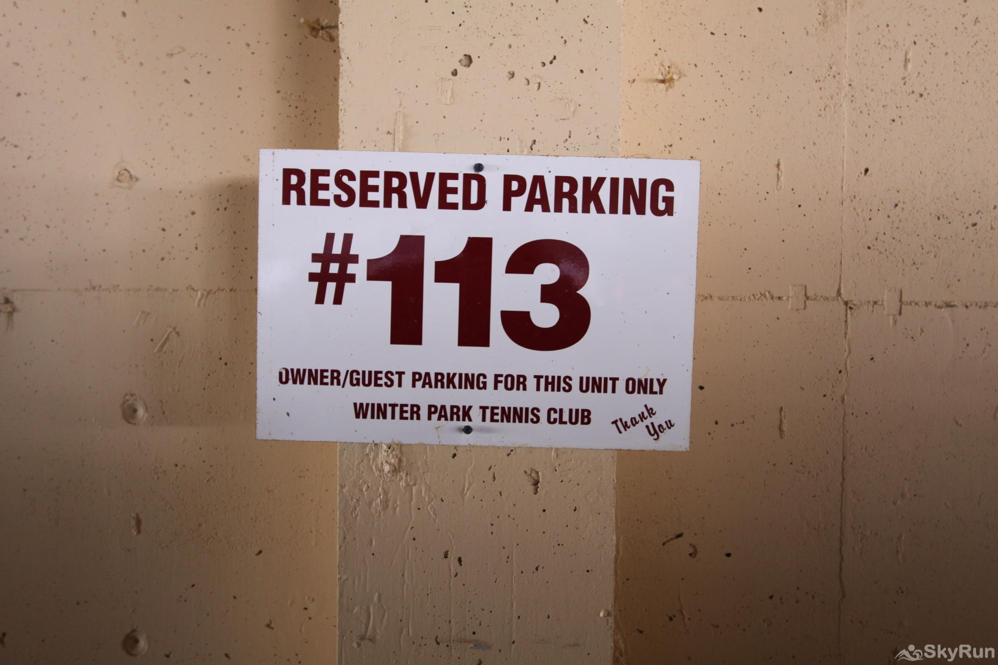 113B WPTC - Cranmer Rd Reserved parking ONE SPOT