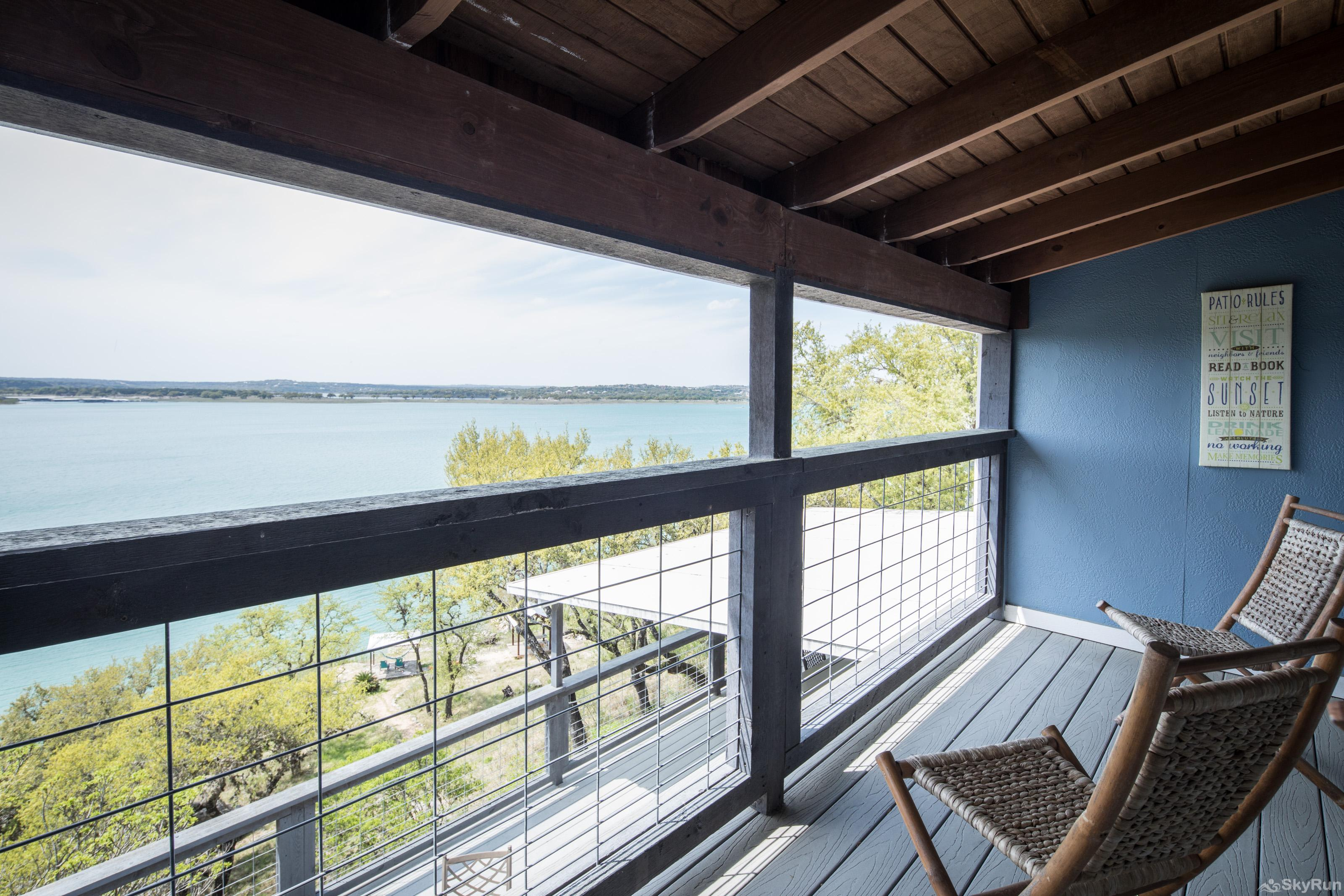 LAKESIDE VILLA Private covered deck, accessible from master bedroom