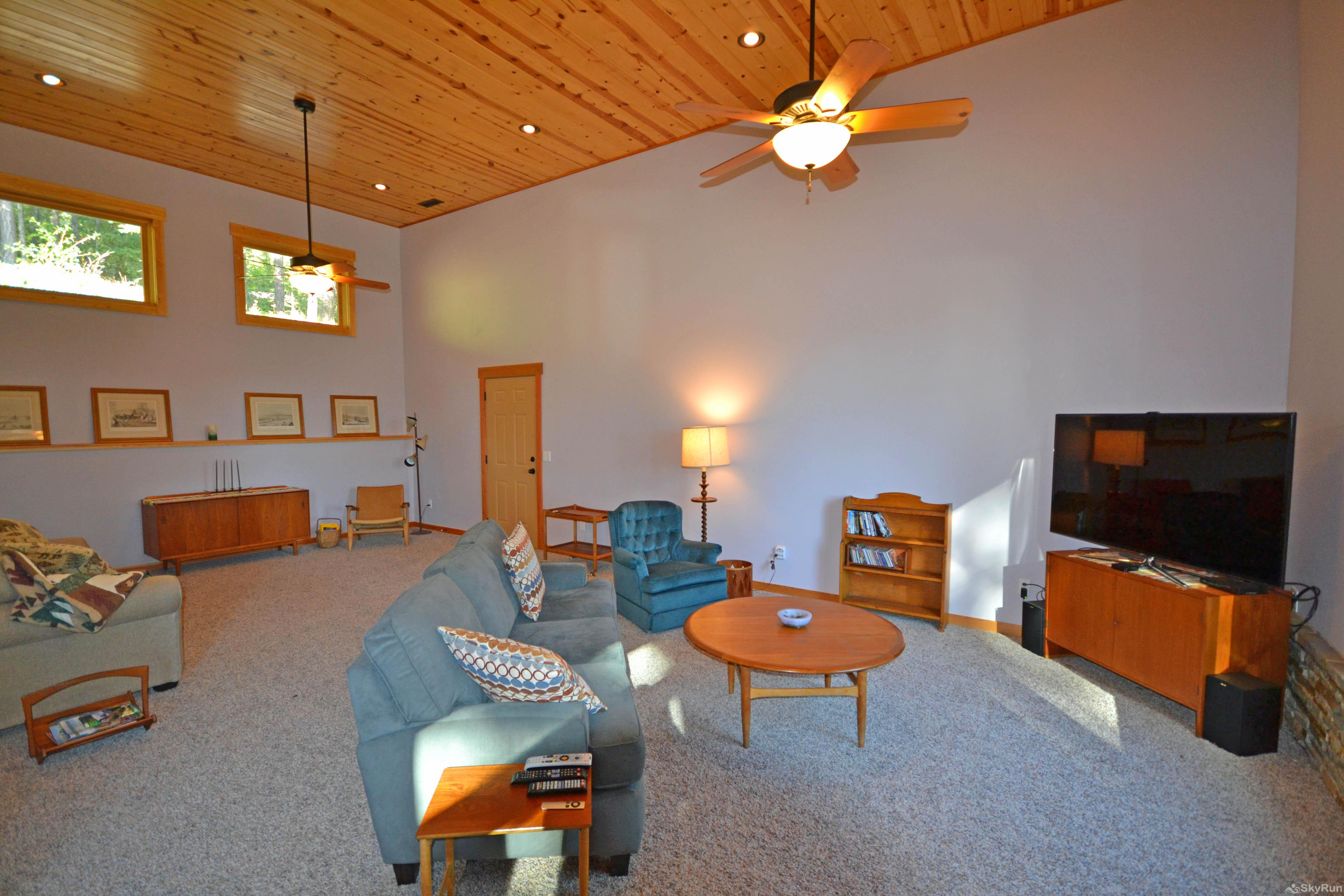 Lodgepole Ridge Cabin Living Area with HDTV and Sleeper Sofa