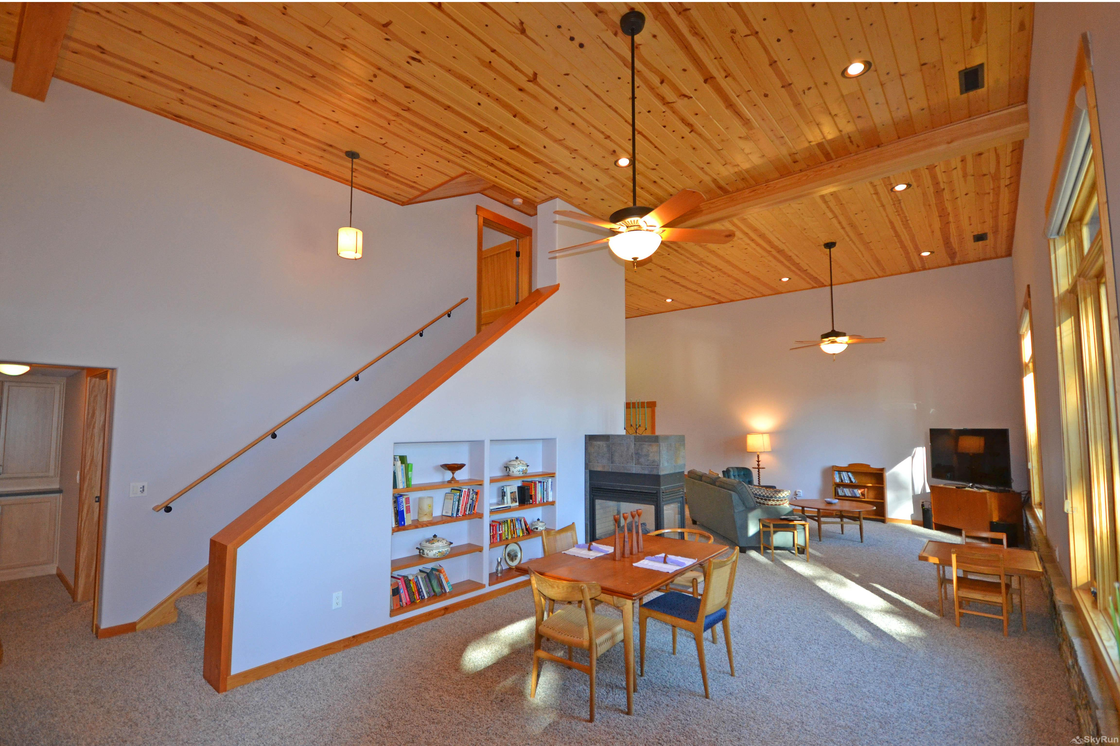 Lodgepole Ridge Cabin Spacious Living and Dining Areas
