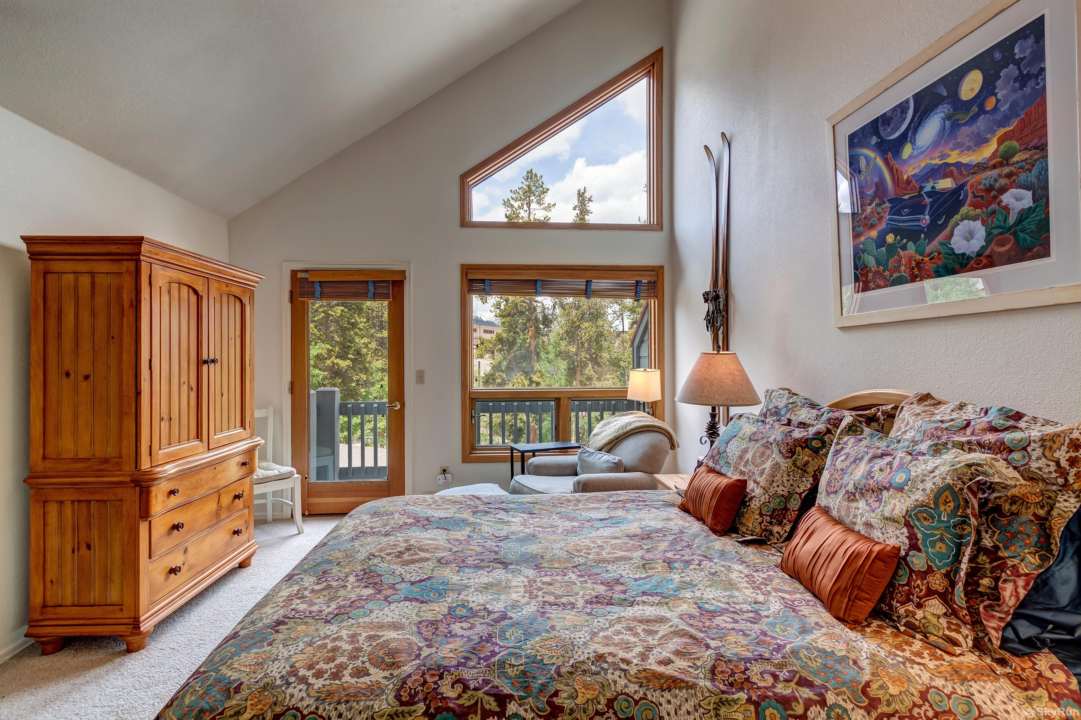 Pine Creek Lodge Master bedroom view