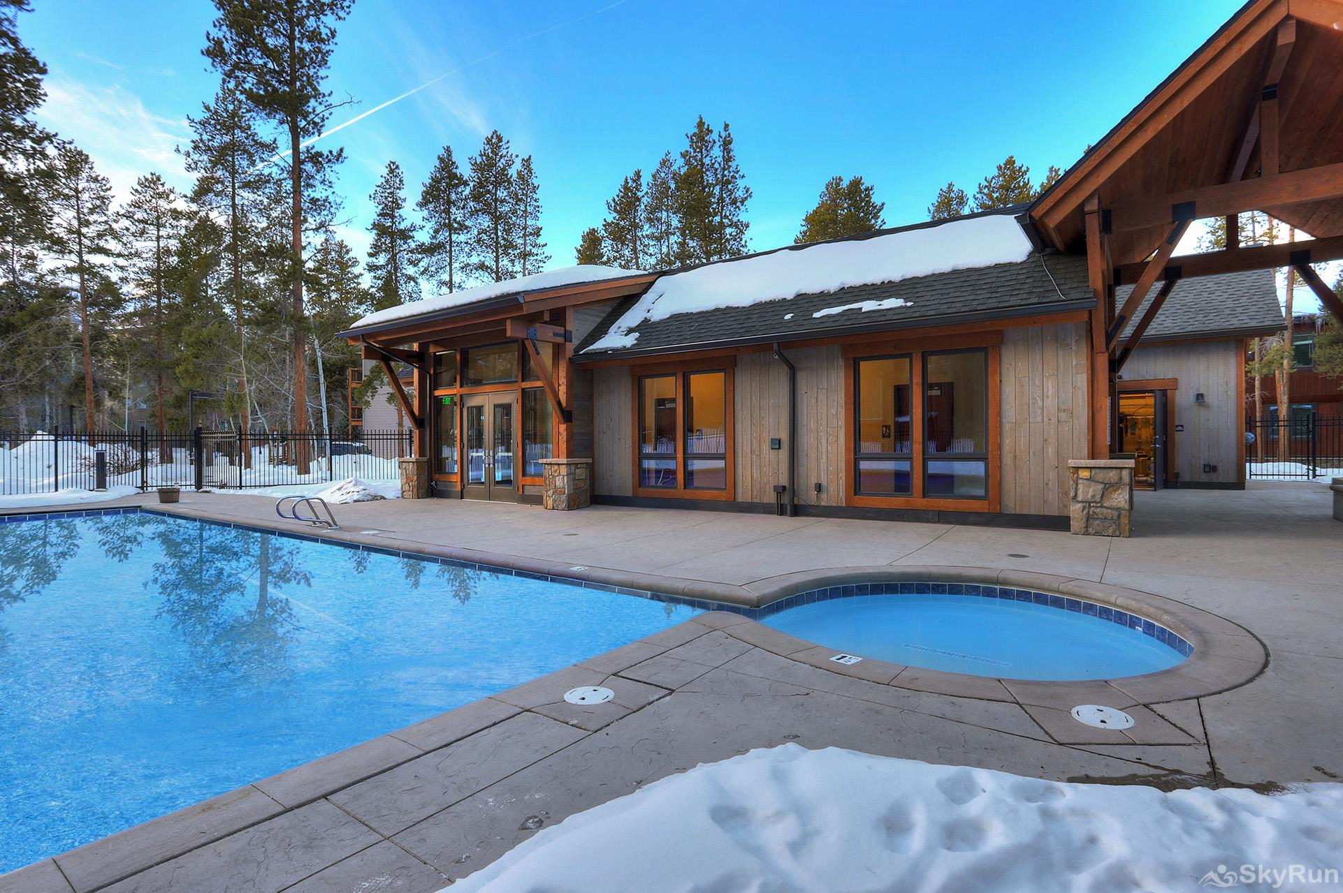 Pine Creek Lodge Guests enjoy access to the Columbine Pool & Hot Tub Complex