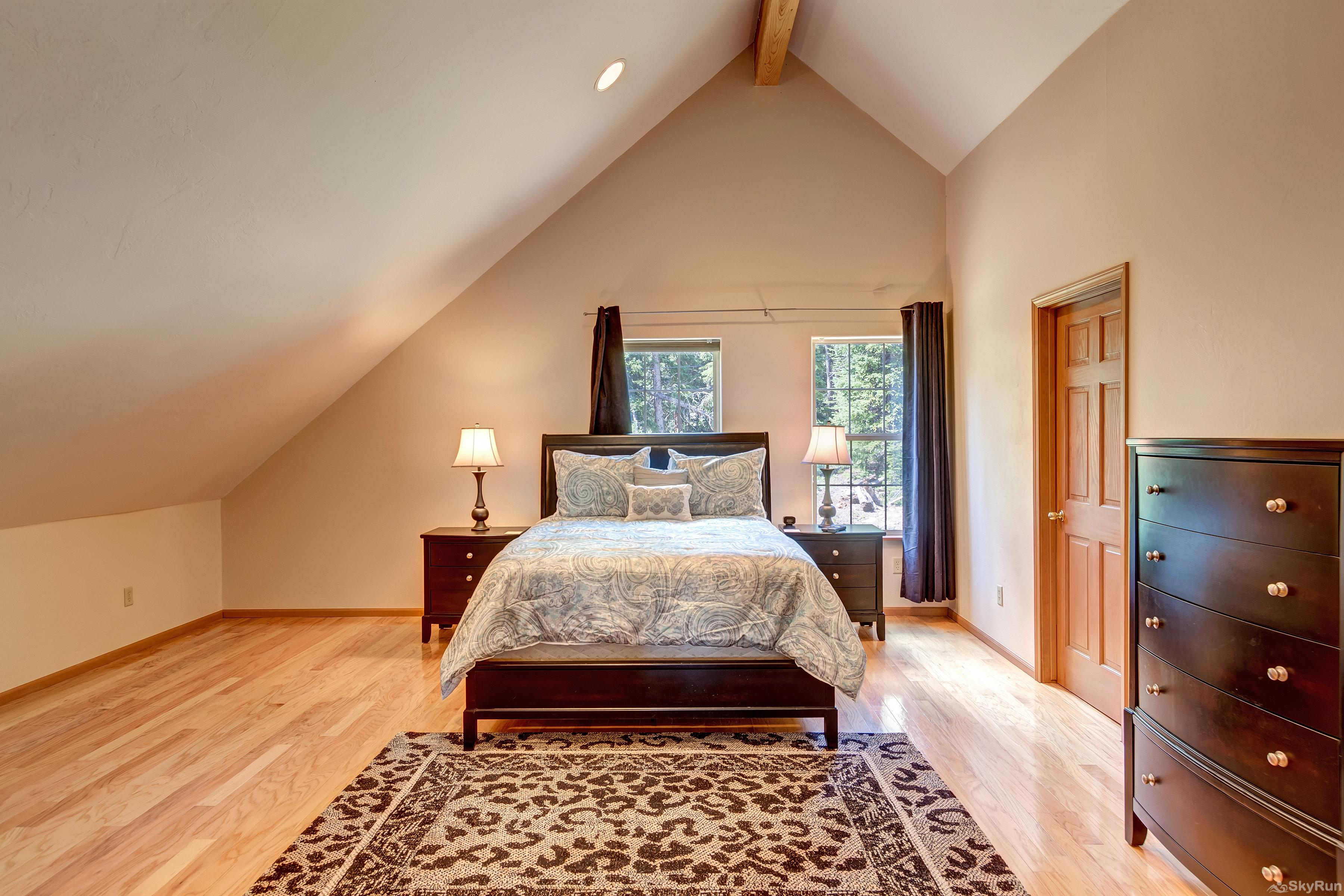 The Commons Master bedroom on upper level