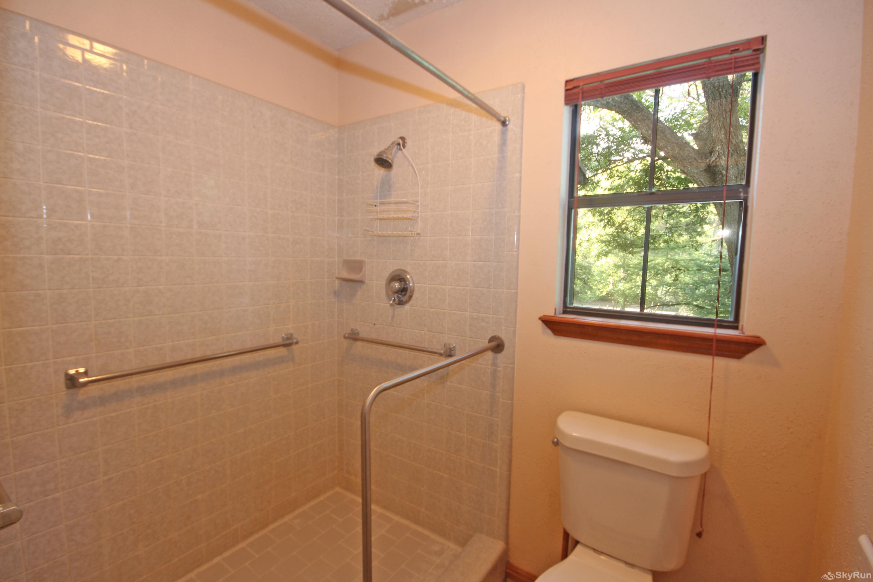 PONDEROSA PARADISE Walk-in Shower in Master Bathroom