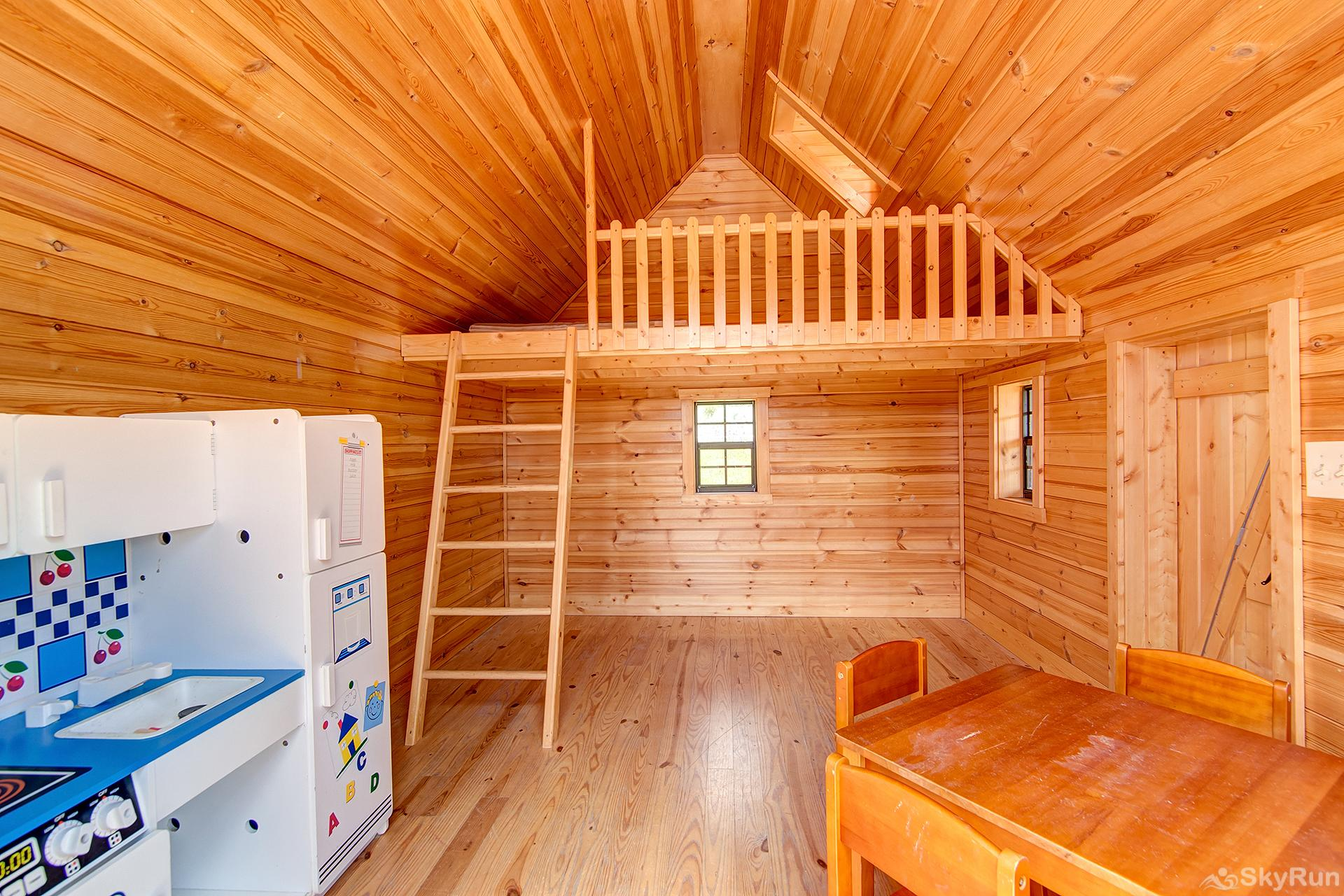 Swan River Retreat Inside the outdoor playhouse...the kids will love it ** NOT HEATED, MAY NOT BE ACCESSIBLE IN WINTER **