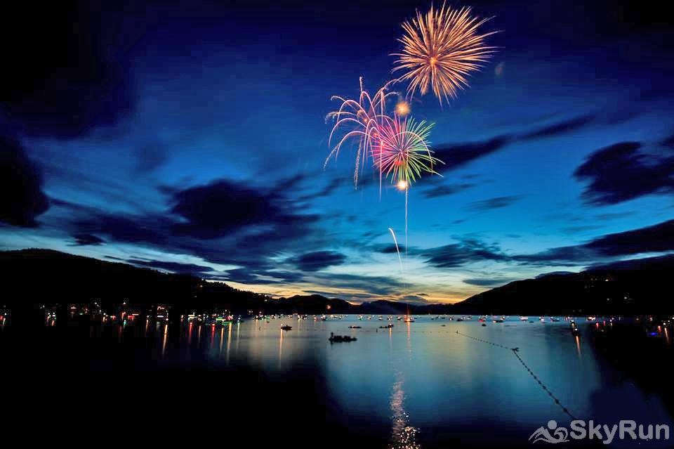 Morning Eagle 411 Fireworks Over Whitefish Lake