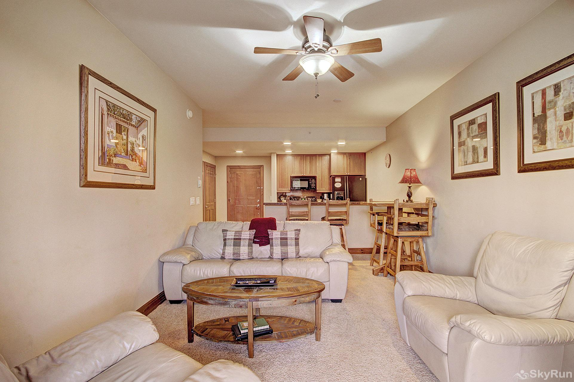 Highland Greens Lodge 211 Spacious floor plan with kitchen opening to the living room