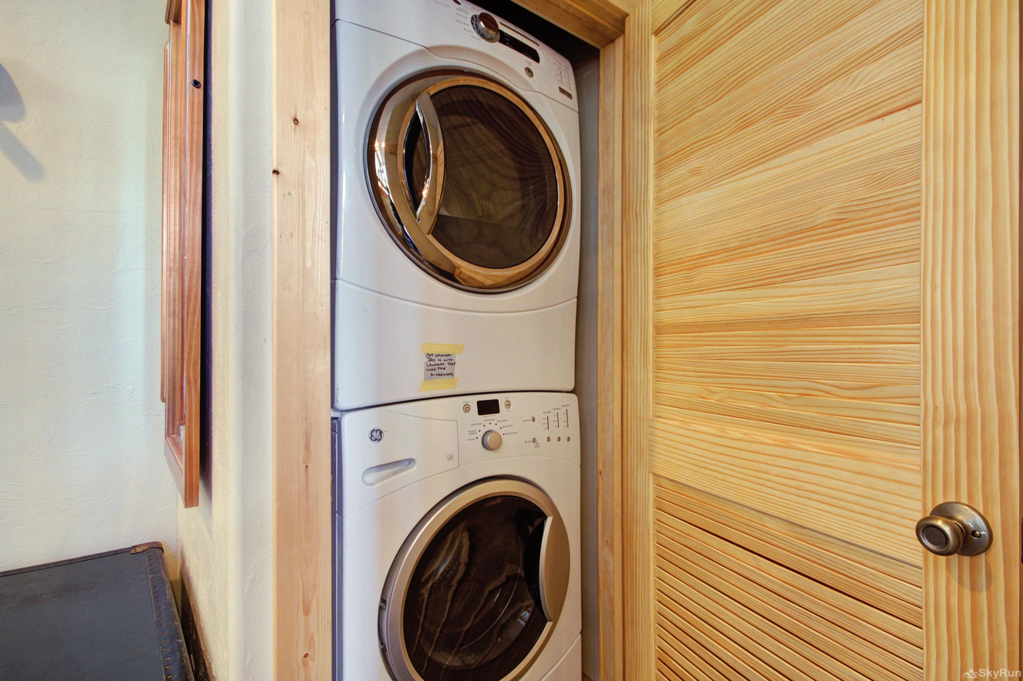Twin Creek Lodge Private in-home washer and dryer