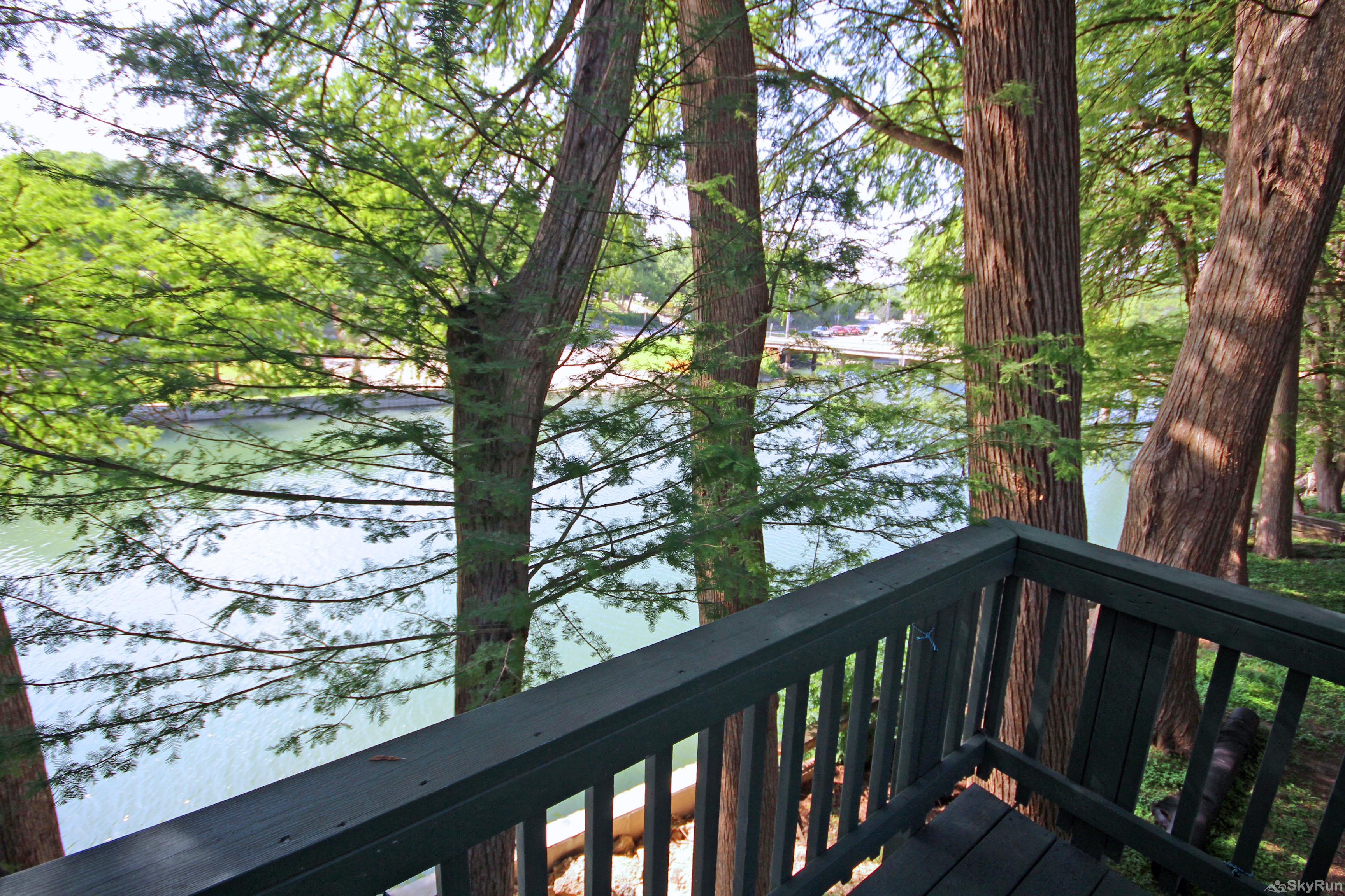 RIVERSIDE ROOST Beautiful Cypress Trees Shading the Deck