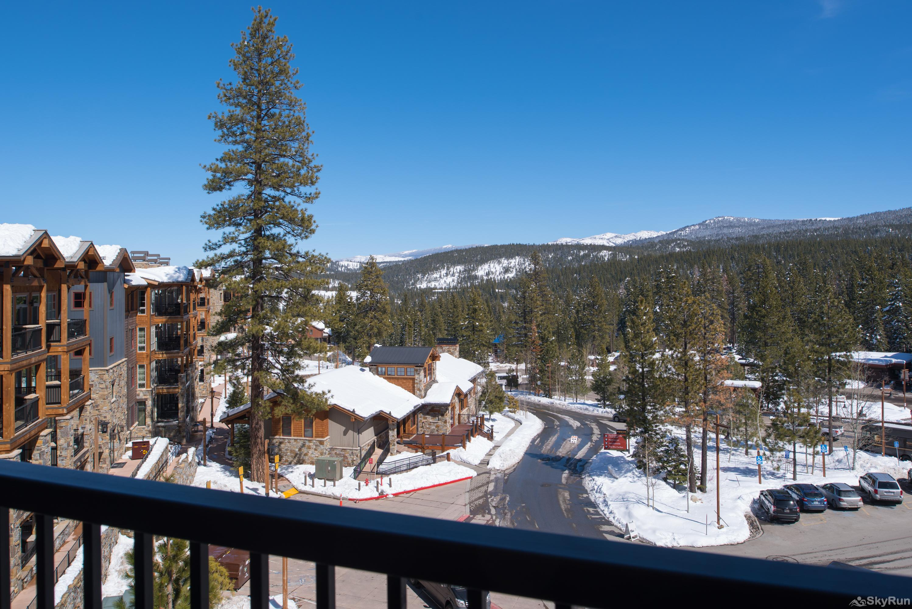 Sierra Range Northstar Lodge Luxury Condo Balcony View