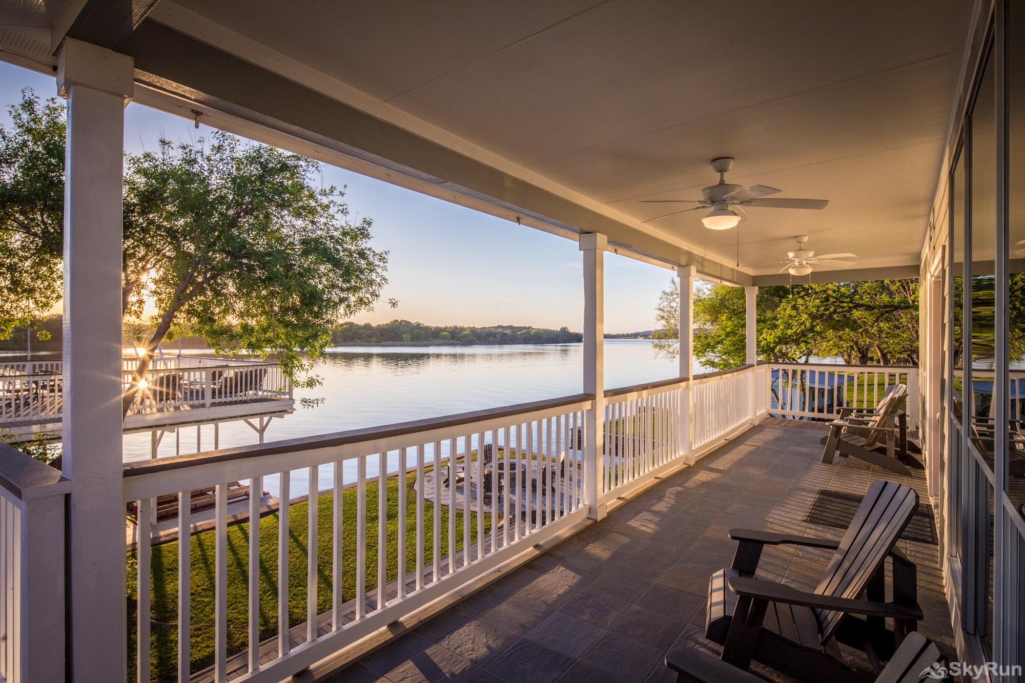 PARADISE POINTE Covered Deck off Main Living Areas