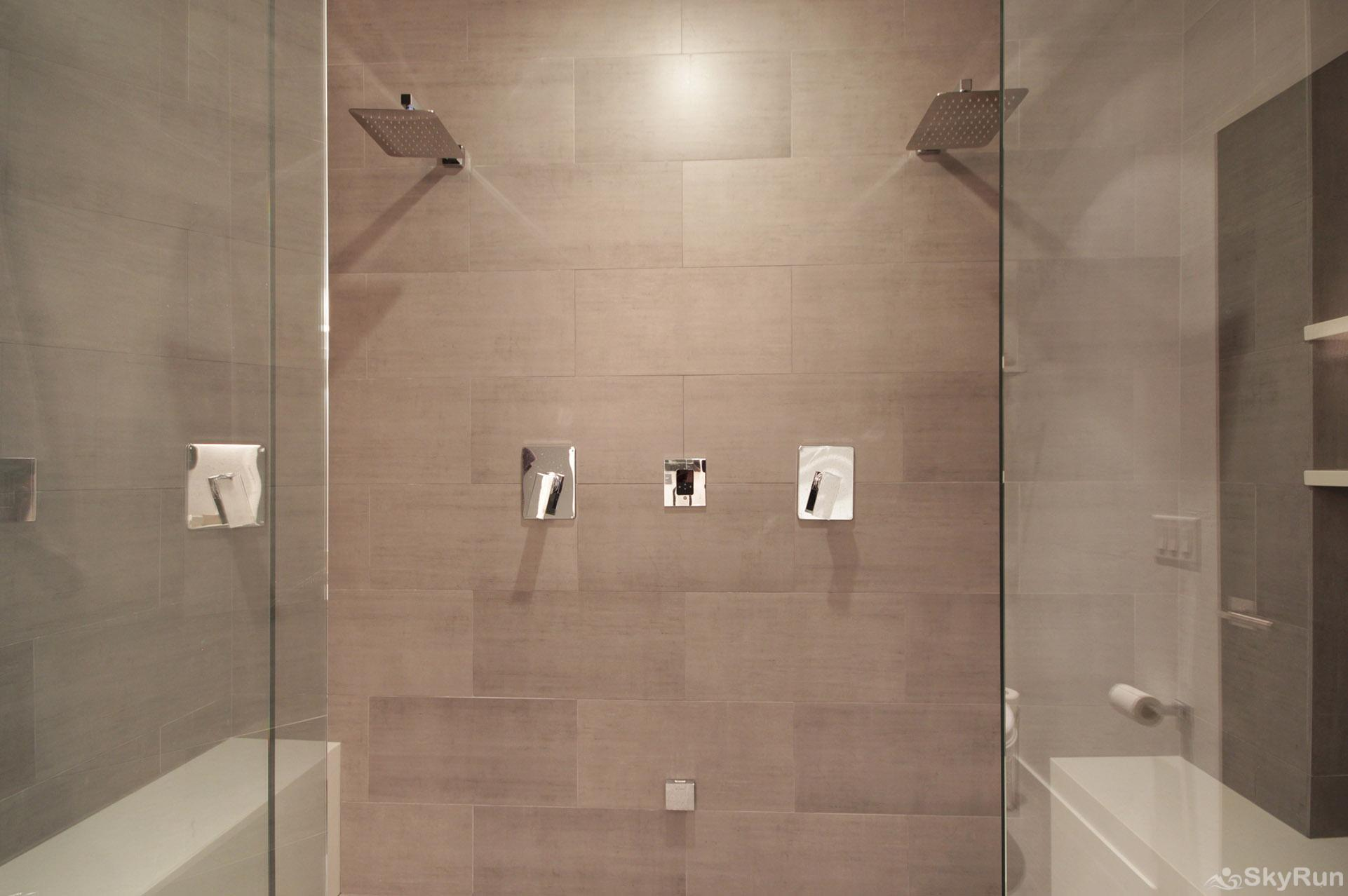 The Moose Chalet Enjoy a steaming hot shower in this luxurious modern shower