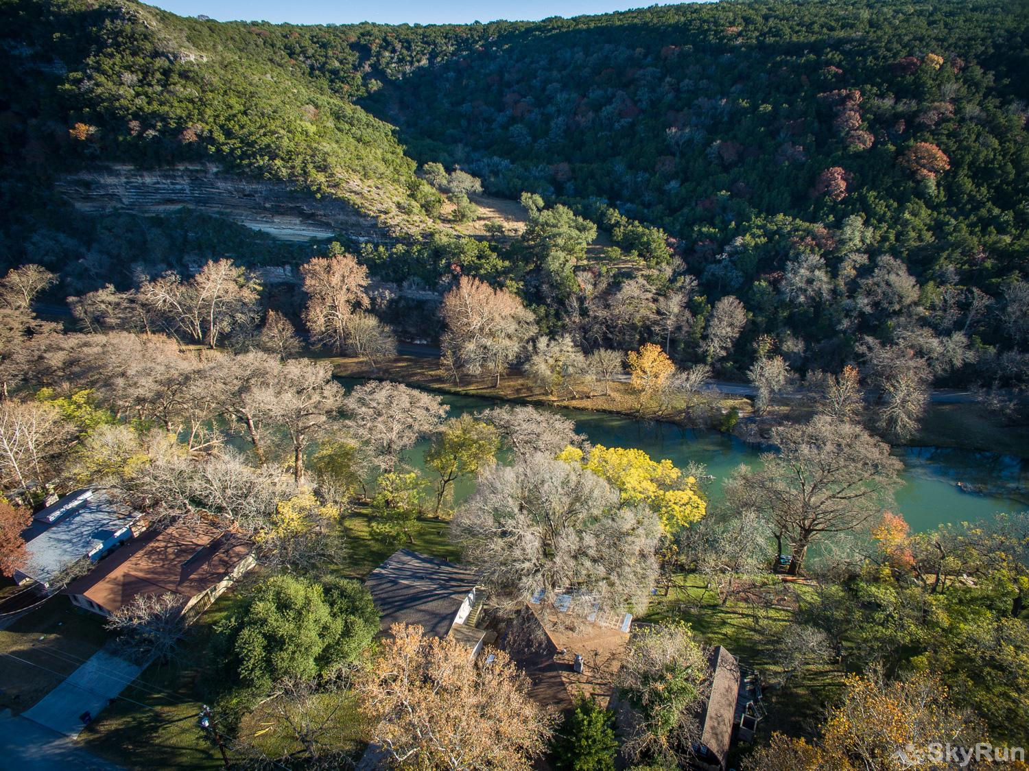 MAC'S PLACE Aerial View of Mac's Place on the Guadalupe River