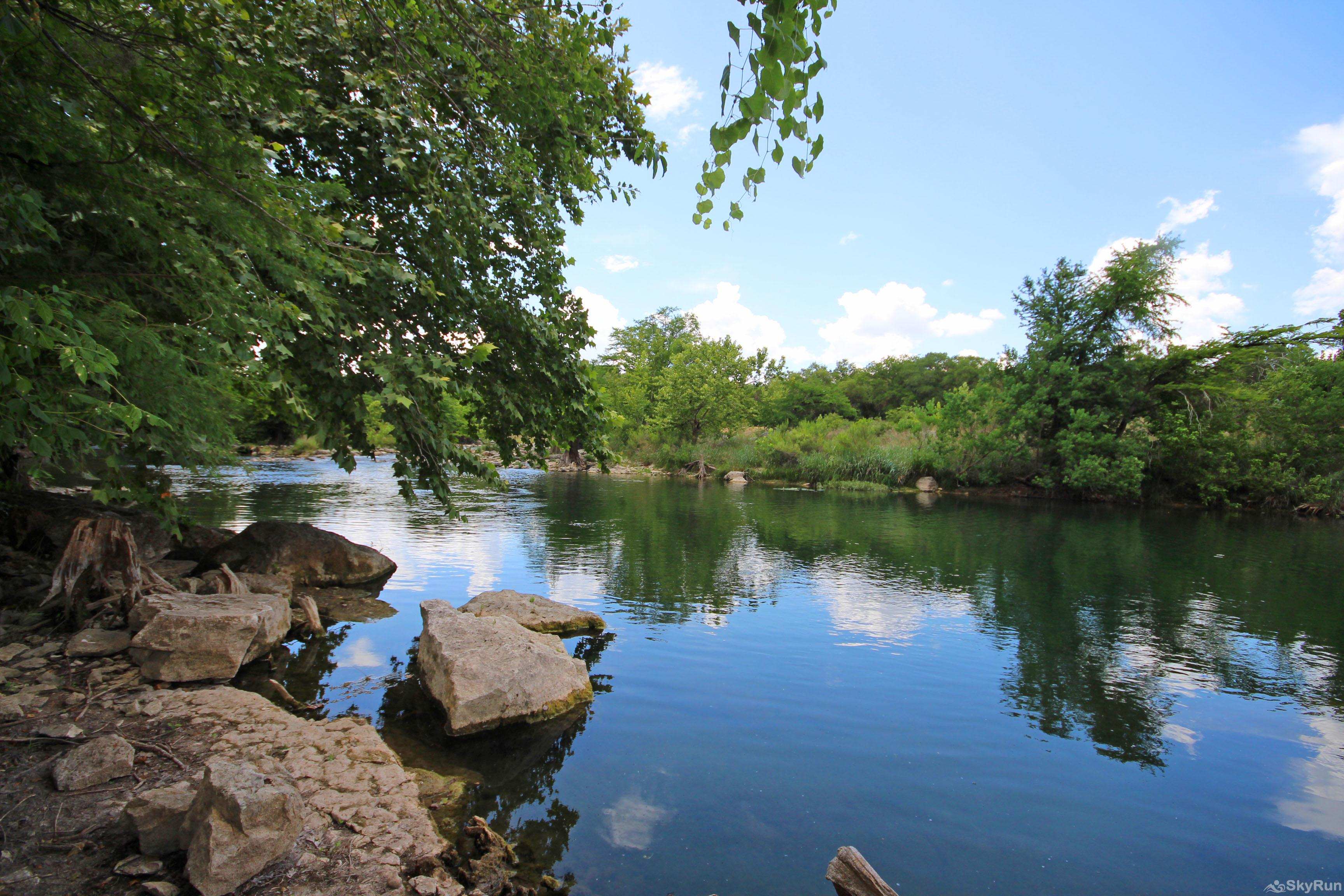 GRUENE VISTA ON THE GUADALUPE Watch the Peaceful Rapids Just Upstream