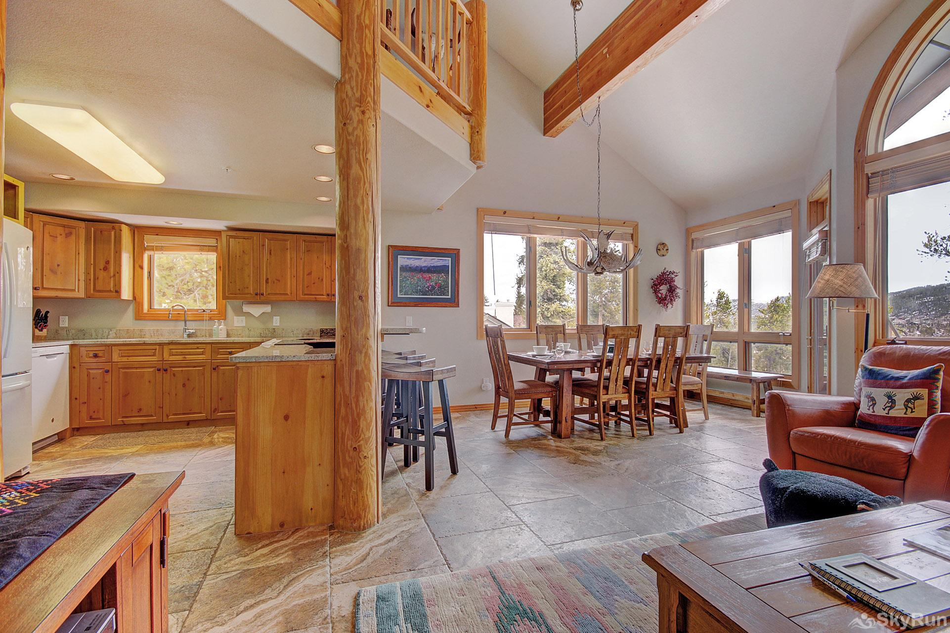 Elk Ridge Retreat Open floor plan is perfect for socializing with family and friends