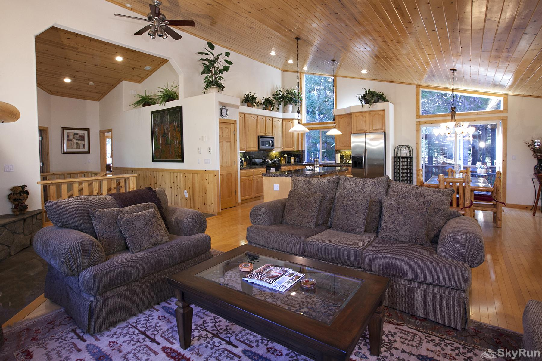 Alder Creek Mountain Home at Tahoe Donner Open Living Area