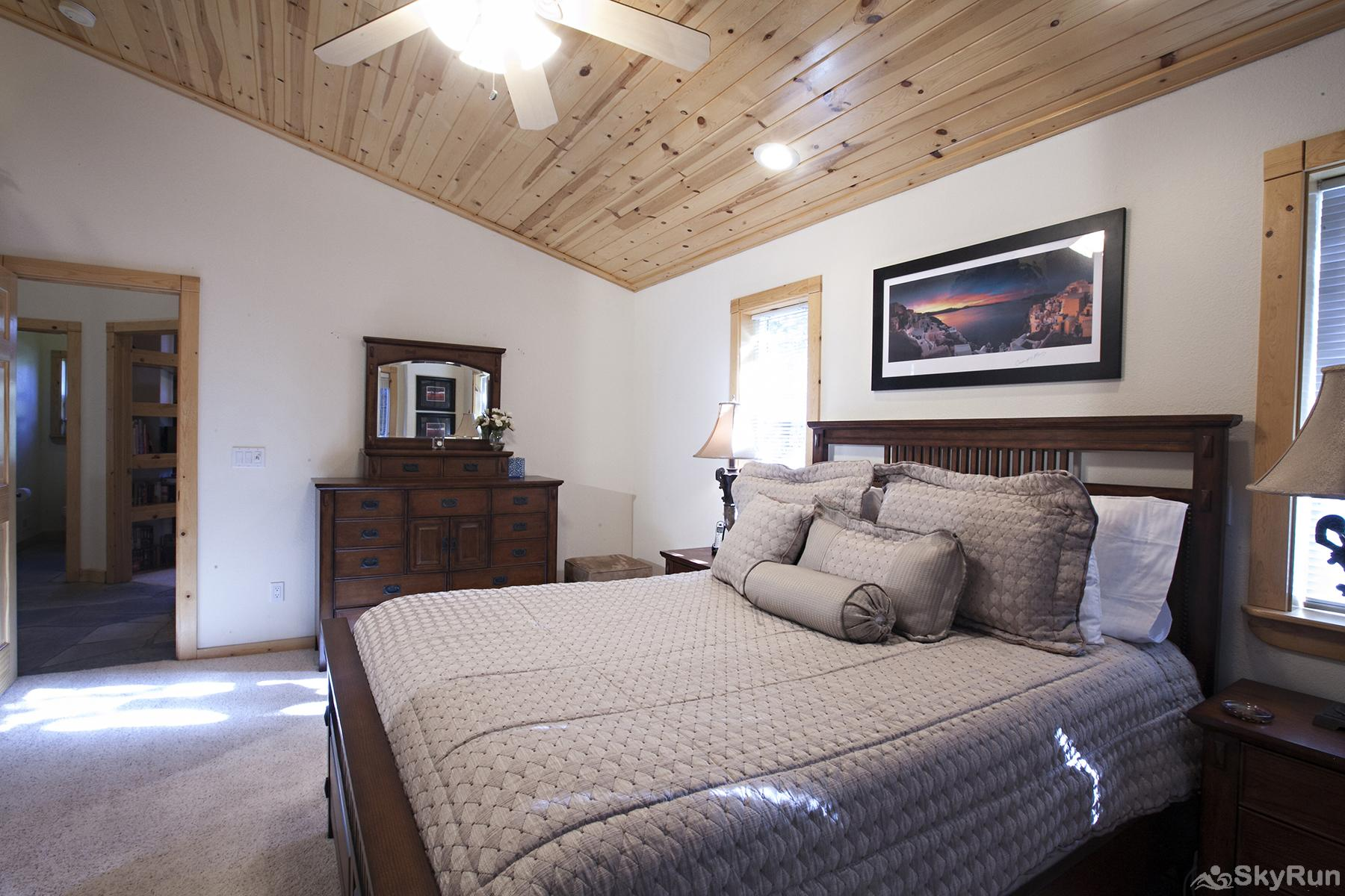 Alder Creek Mountain Home at Tahoe Donner Private Master Bedroom with Ensuite Bathroom