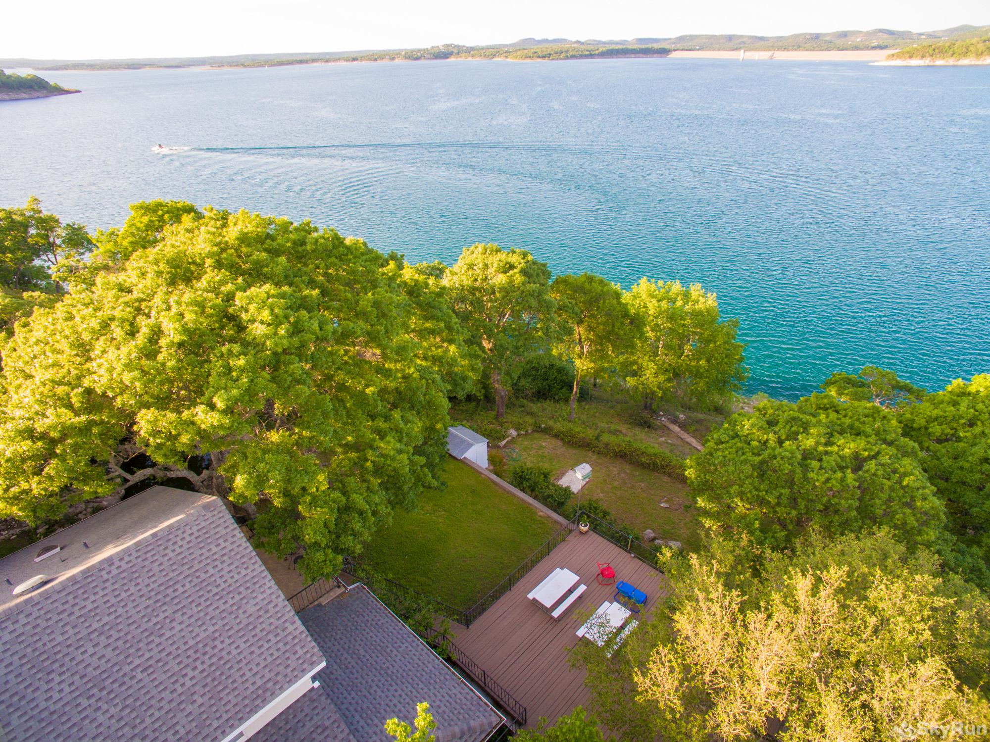 BUCKHAVEN RIDGE Backyard of Home with Canyon Lake Directly Below