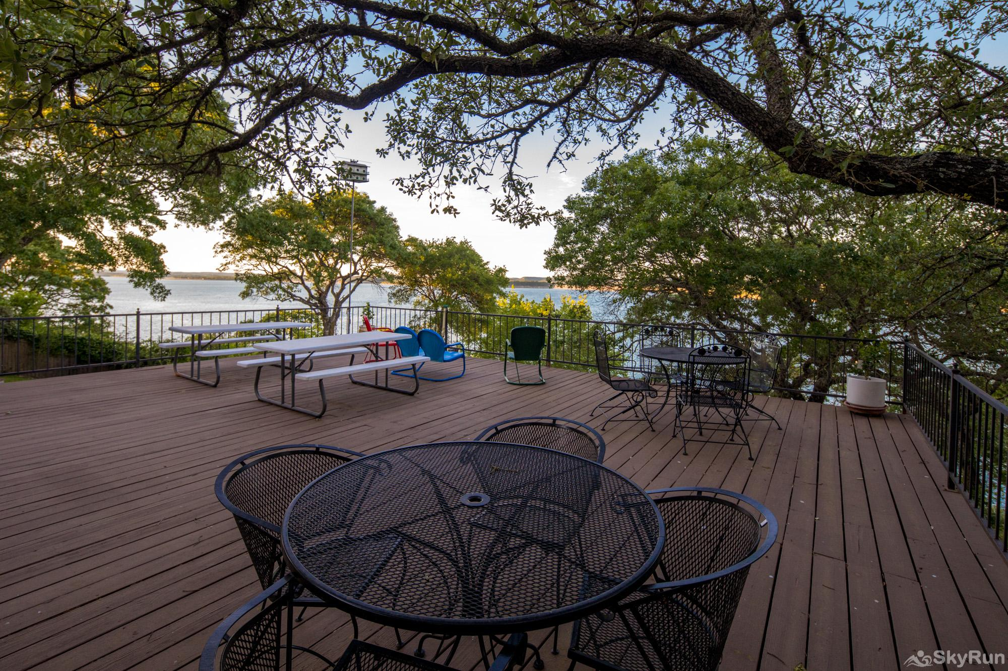 BUCKHAVEN RIDGE Large Deck Space with Panoramic Views of the Water