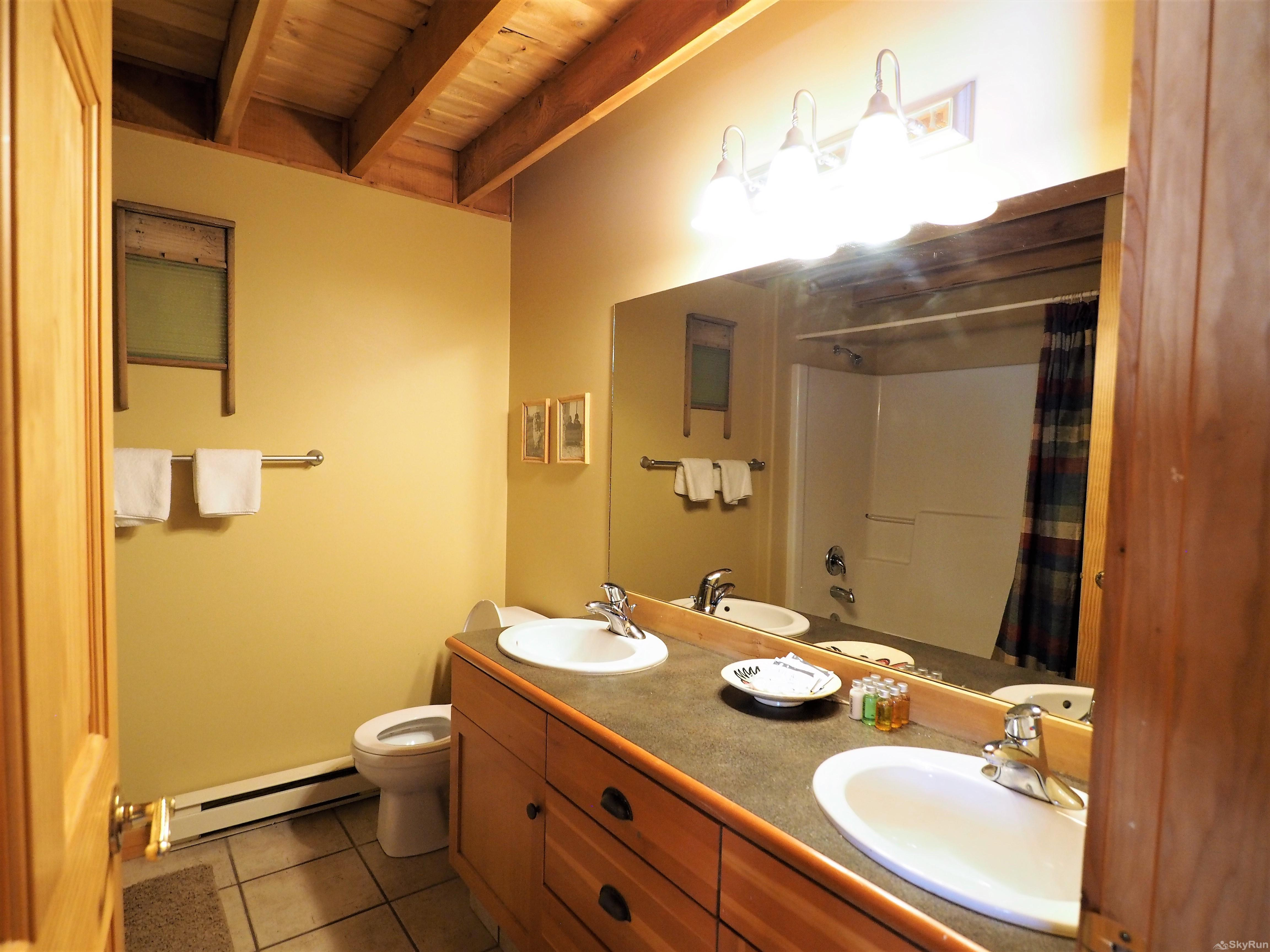 Wildside at Apex 2nd floor bathroom - 2 sinks help with the number of guests staying