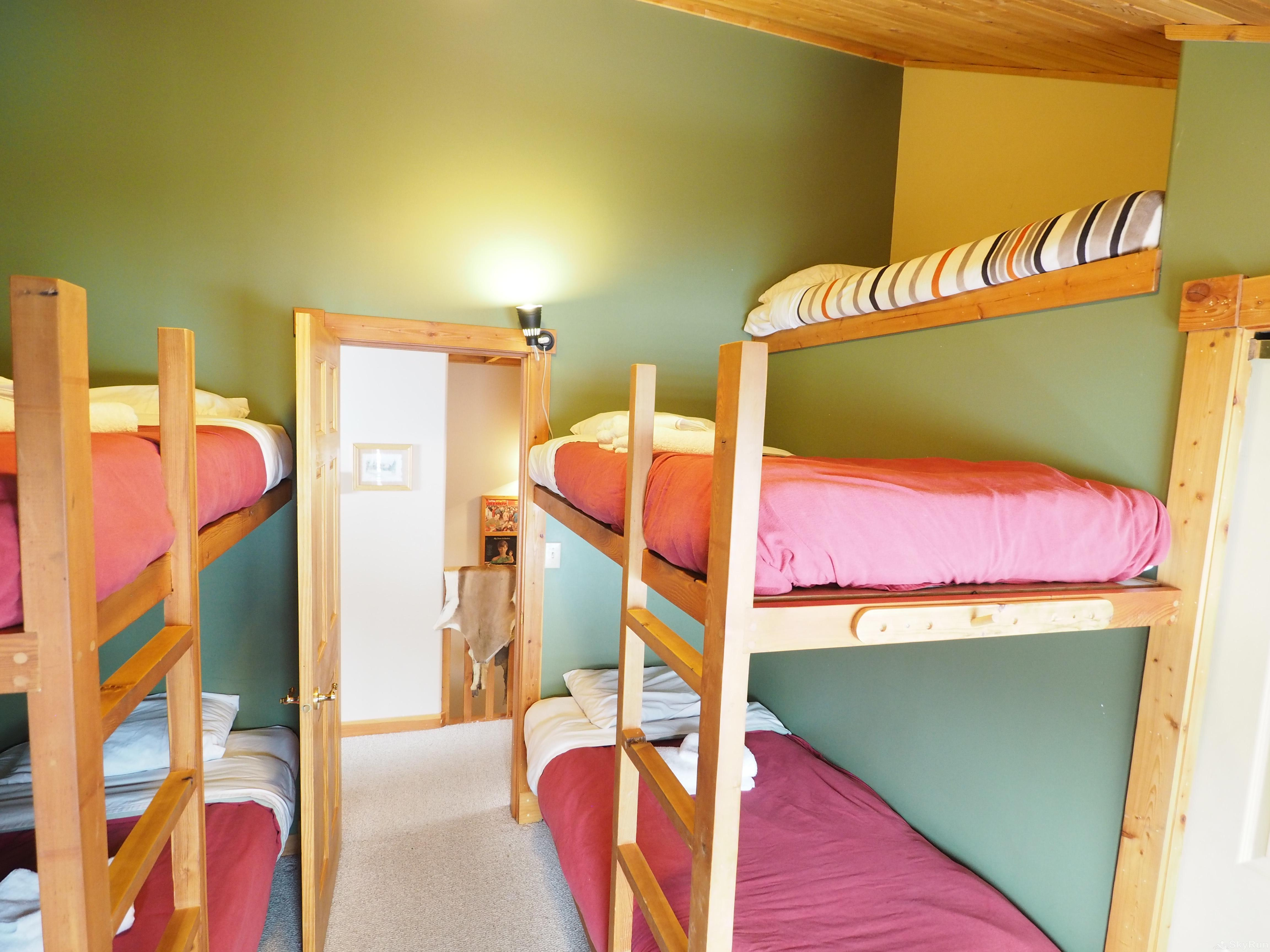 Wildside at Apex The bunk room - 4 full size twin beds plus a mini twin bed up top for a child