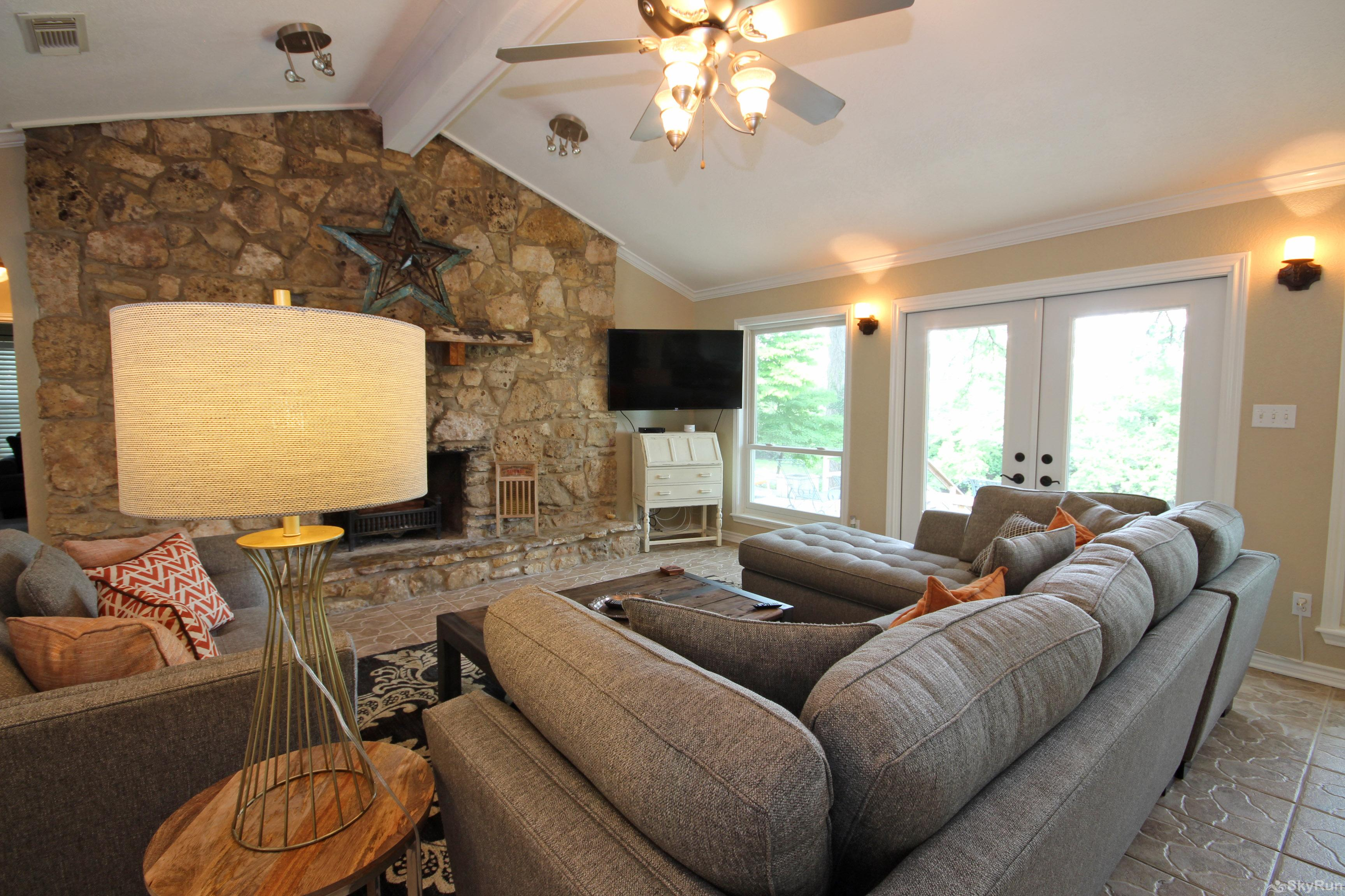 MAVERICK'S RIVER HAUS & GUEST HAUS 55 Inch Smart HDTV in Living Room