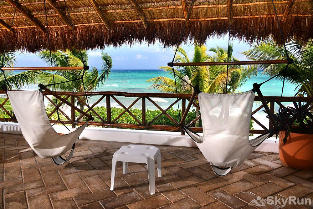 Stunning Beachfront Villa at Akumal, exclusive area north of Tulum Ocean View Luxurious Condo