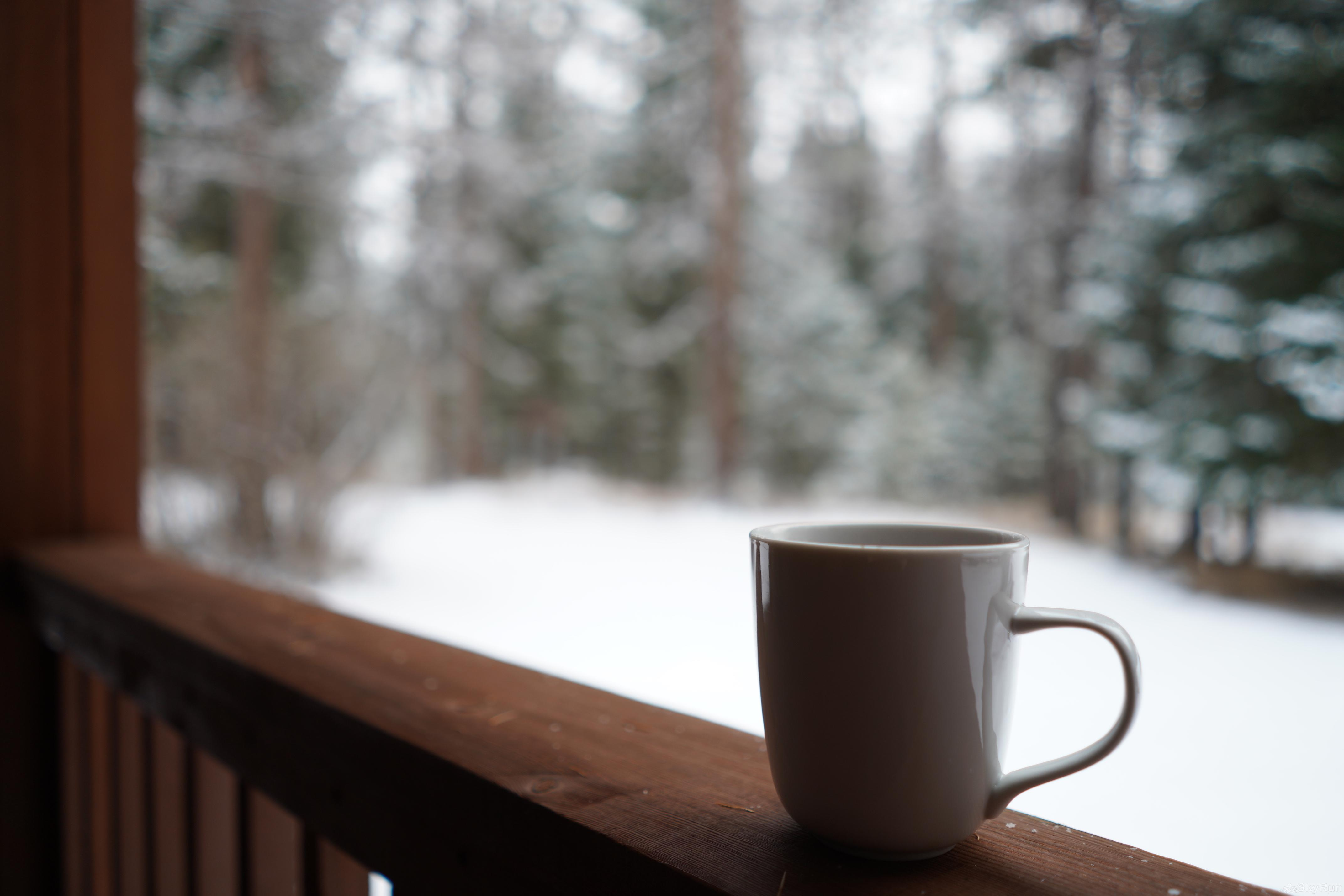 The Nordic House at Stillwater Mountain Lodge Have a hot cup of coffee out on the deck
