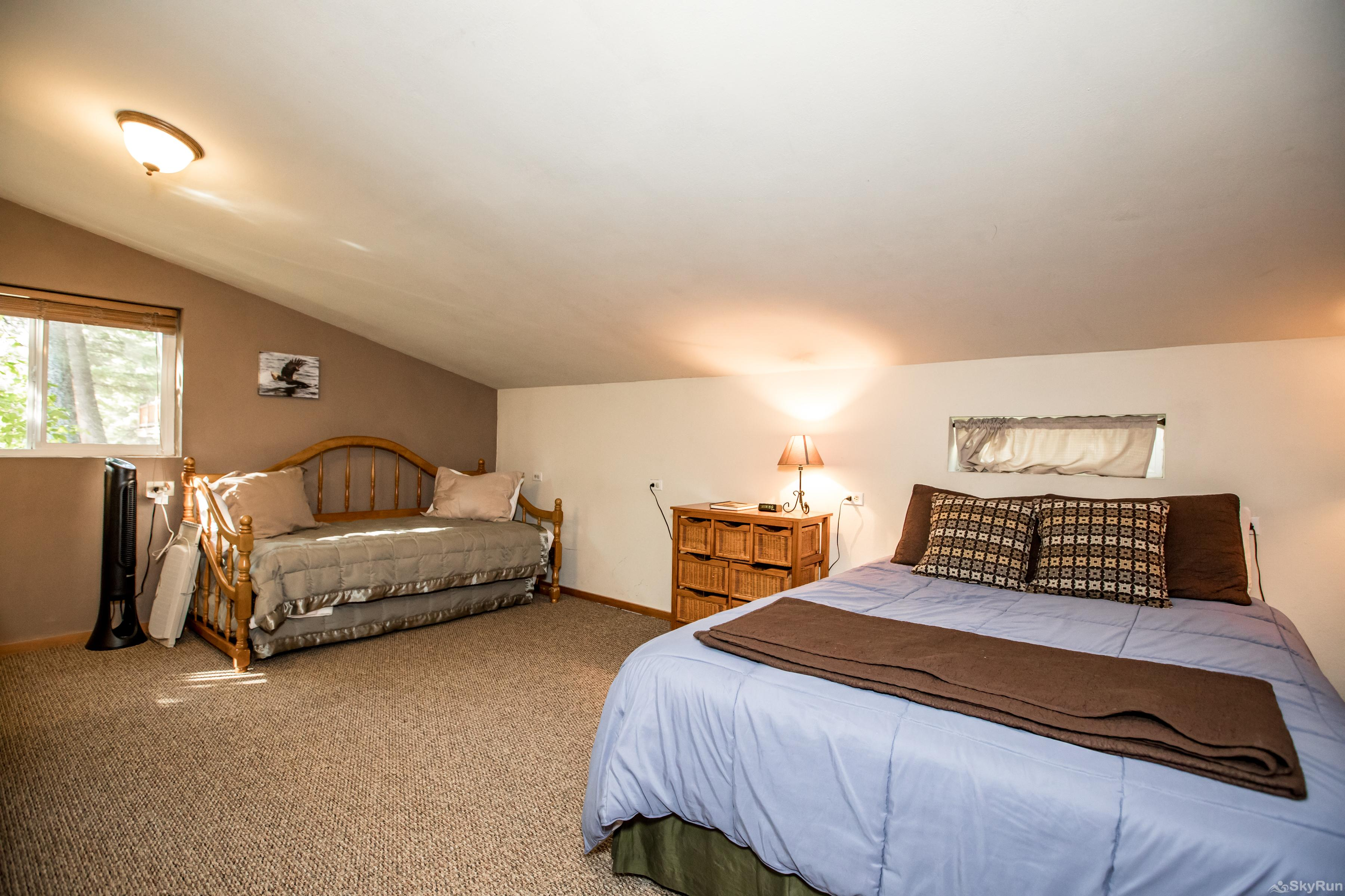 The Studio at Stillwater Mountain Lodge Both beds with widow fans