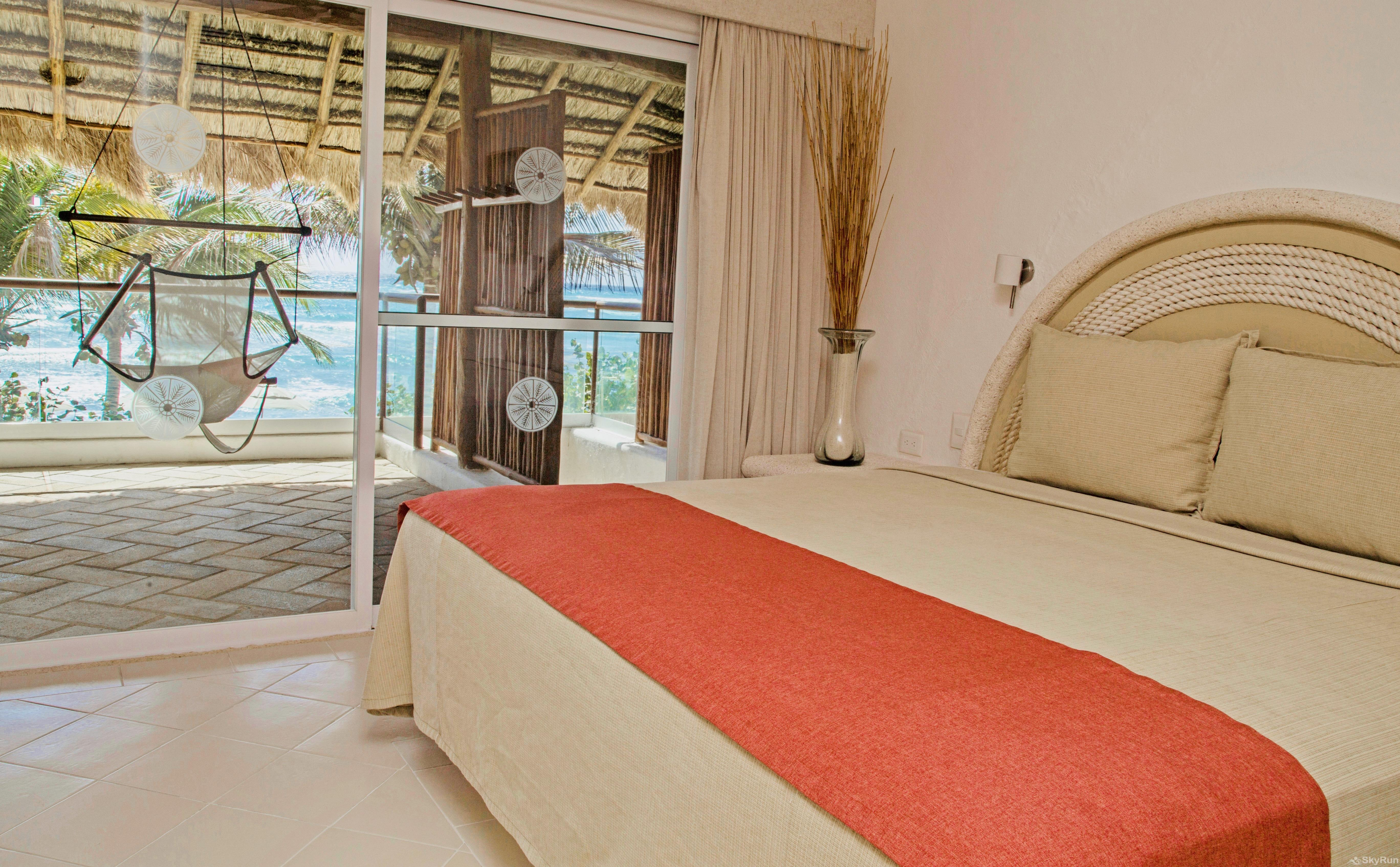 Beachfront  Villa 3 bedroom Tulum area Resort Style Master Bedroom