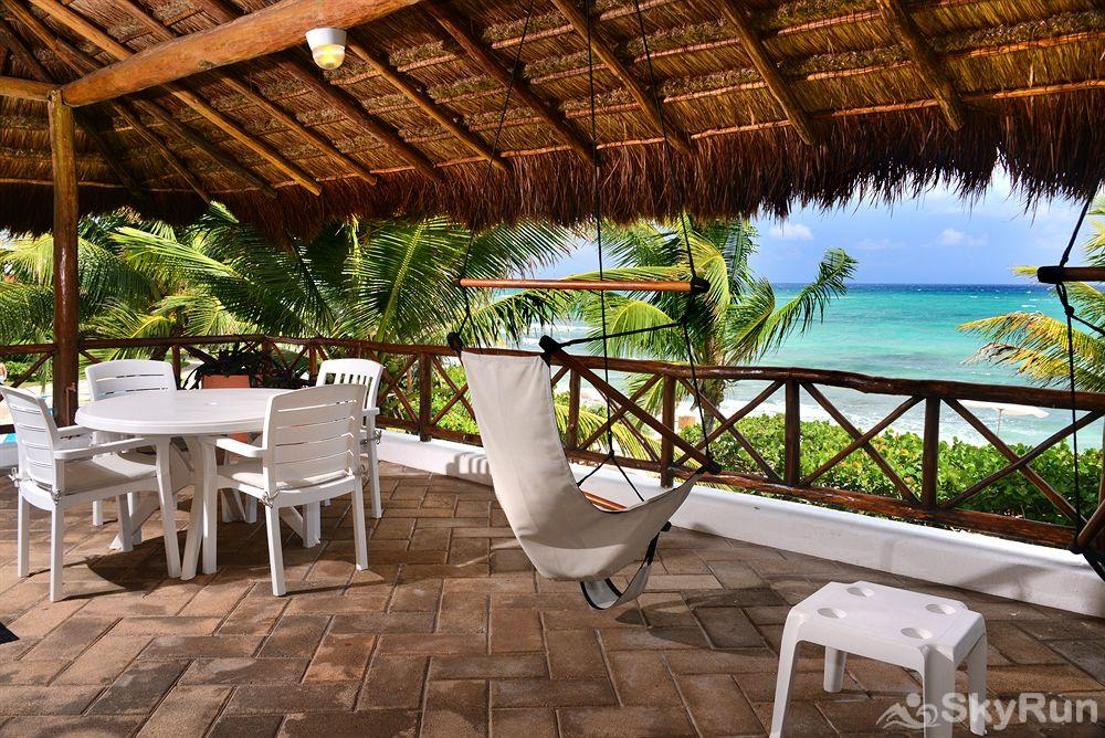 Beachfront  Villa 3 bedroom Tulum area Resort Style Spectacular Terrace Beachfront View from your villa