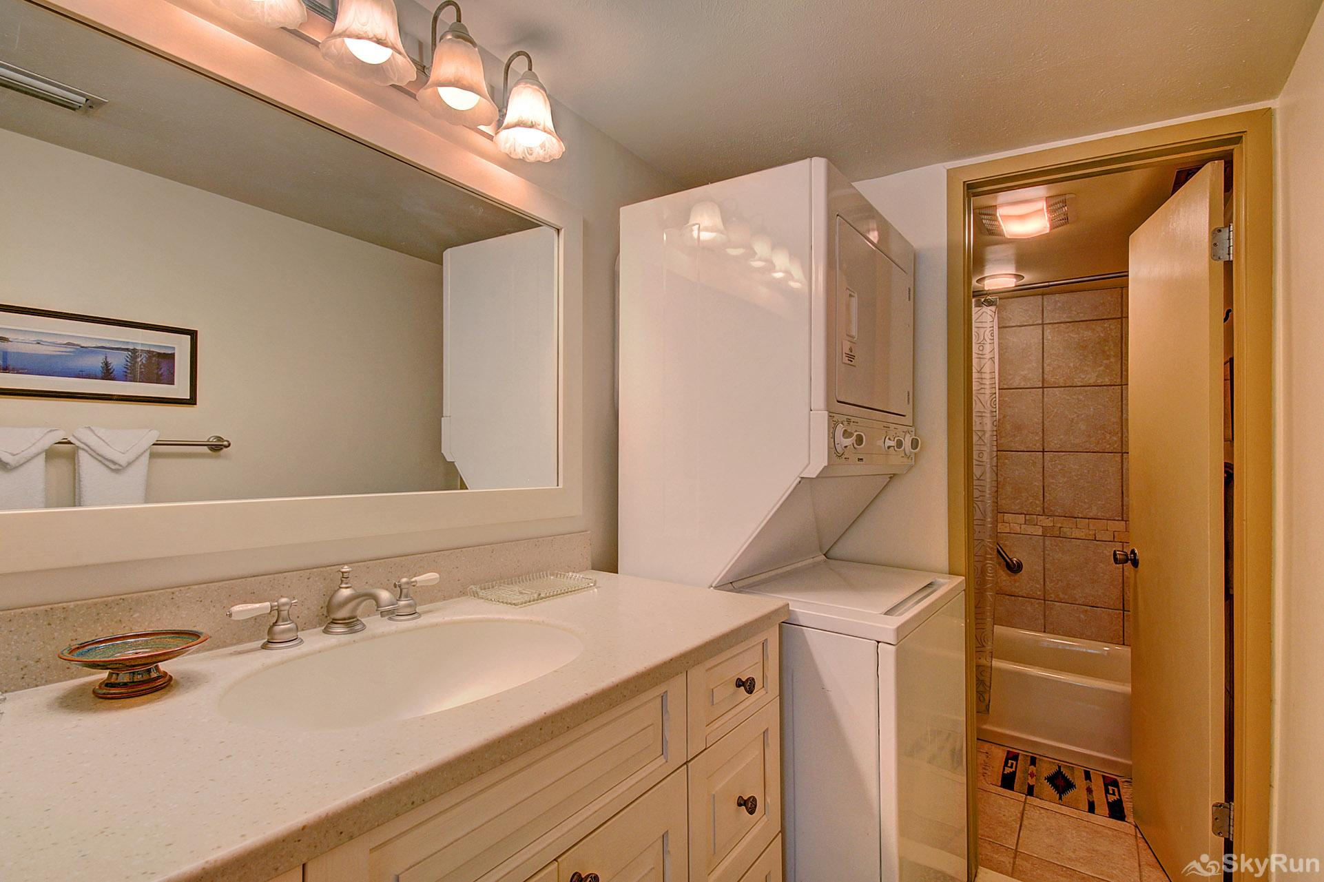 Columbine 102 Master bath with private in-home washer/dryer