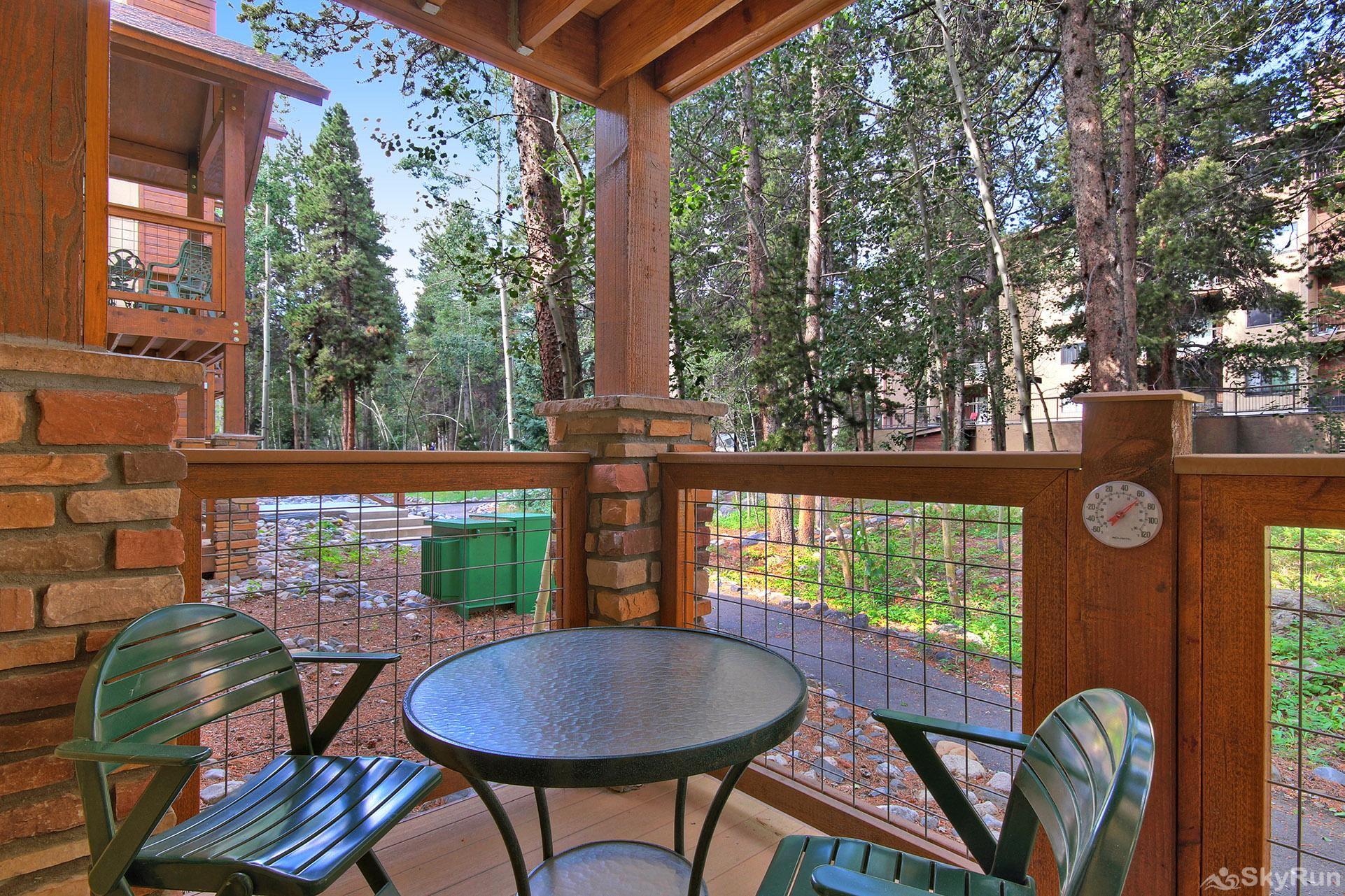 Columbine 102 Enjoy the fresh air while relaxing on your private garden level deck