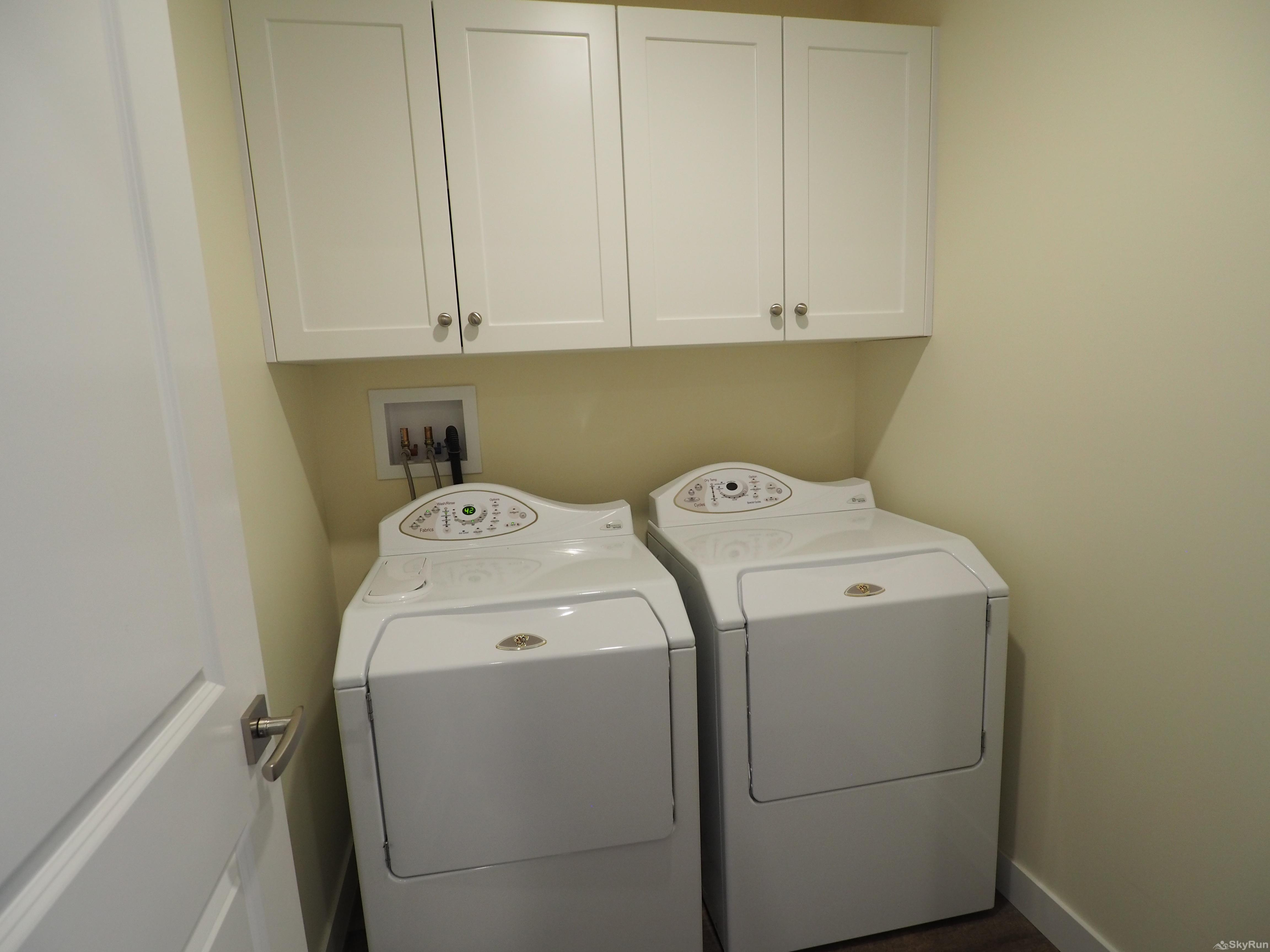 Blue Heron Hide-Away Full sized high efficiency laundry equipment