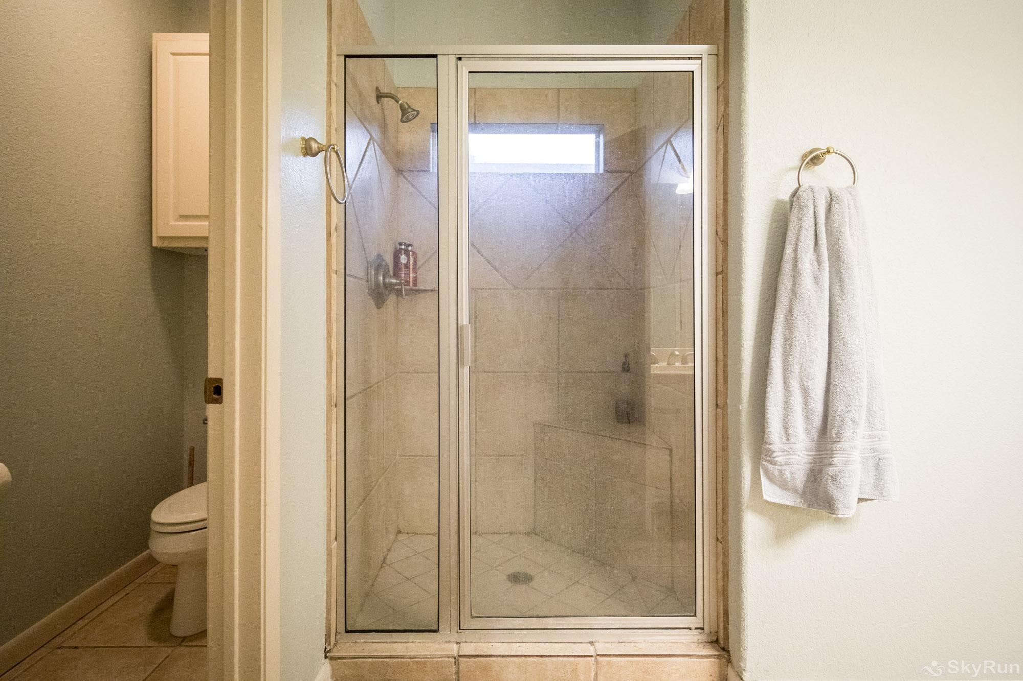 SERENITY SHORES Walk- in Shower in Second Full Bathroom