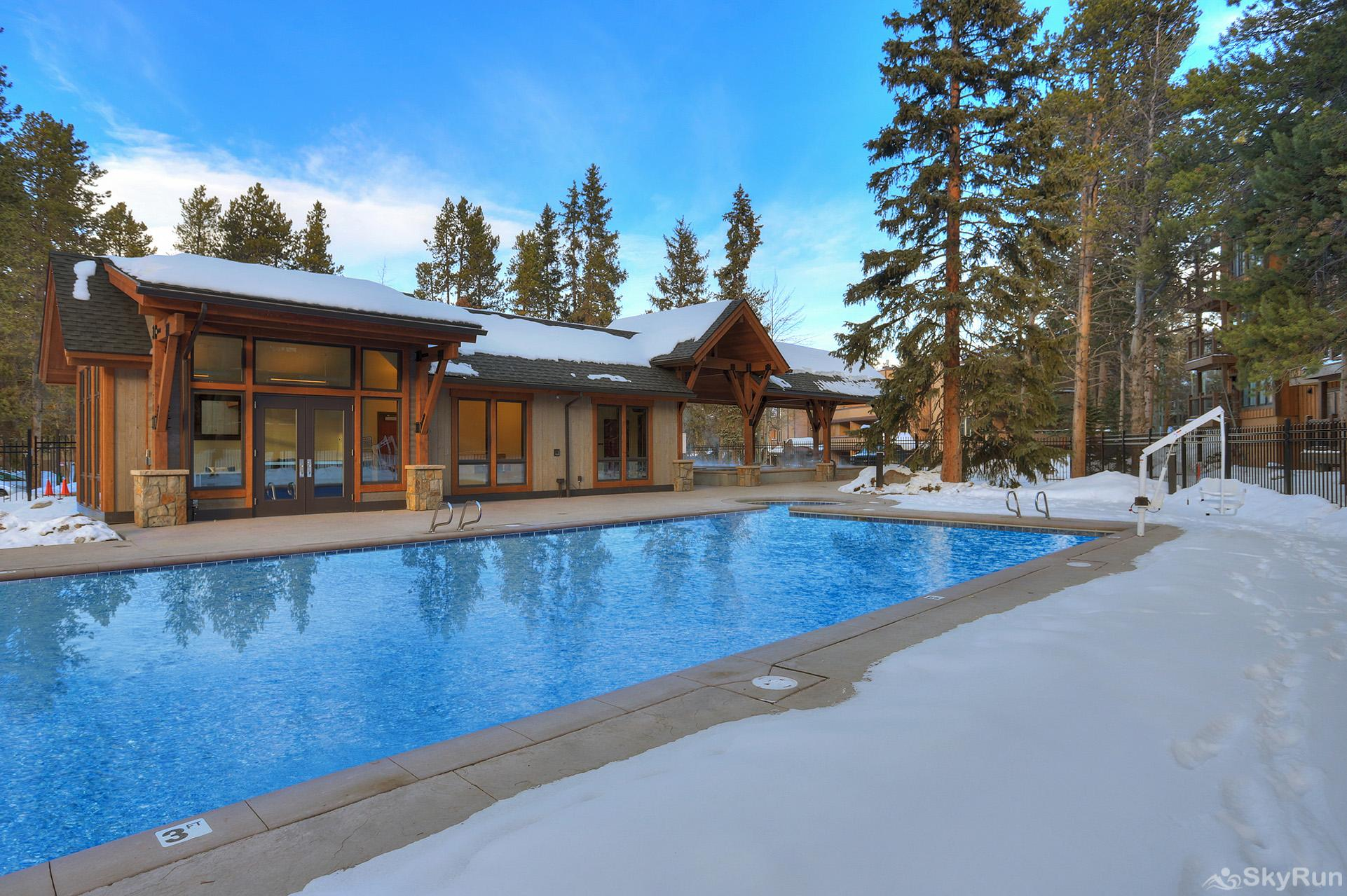 Tannenbaum by the River Guests enjoy access to the Columbine Pool & Hot Tub Complex