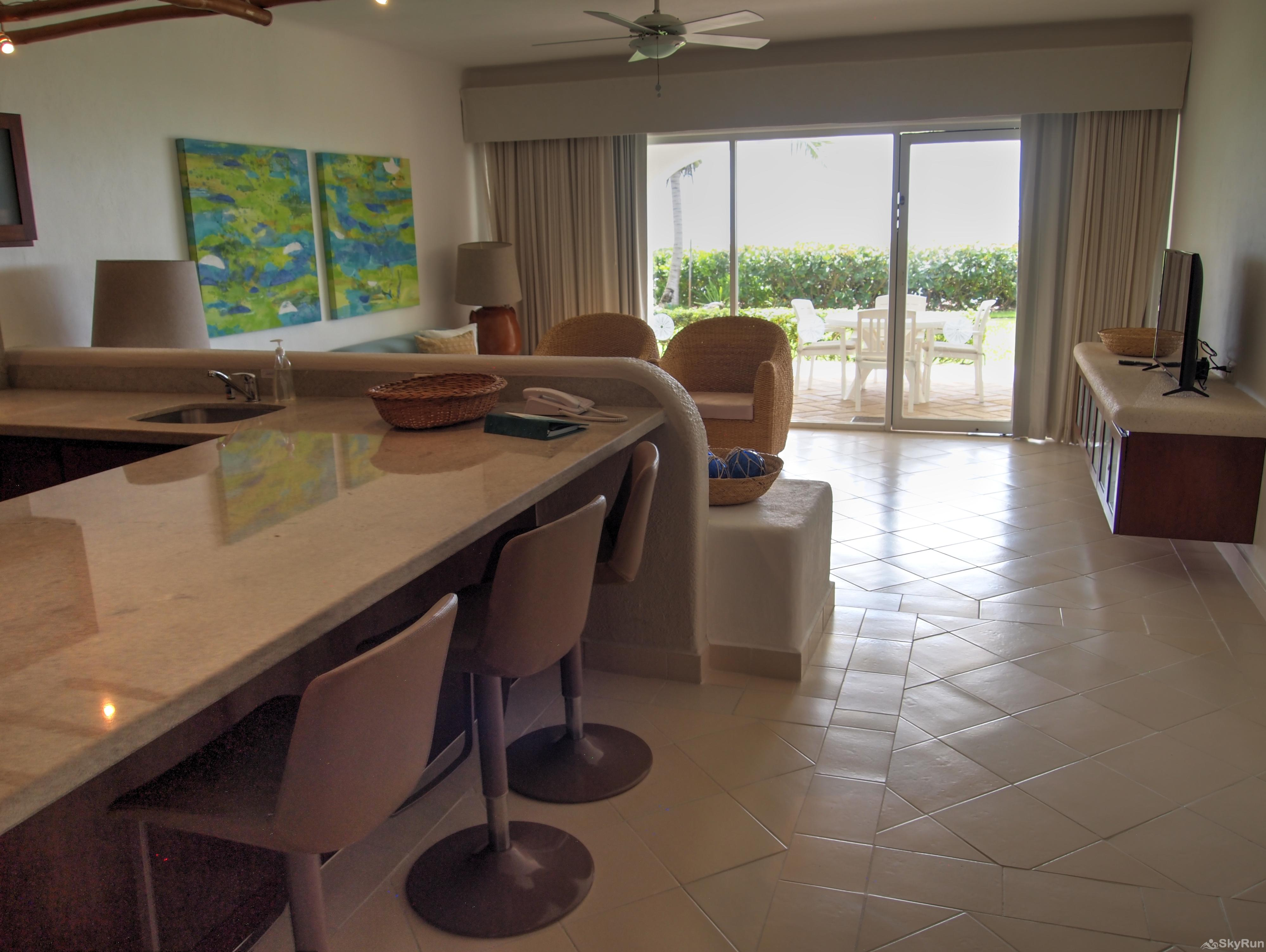 Las Villas Akumal 108  2 Bedroom Beachfront Second Floor 1st. Floor Villa with Scenic Beachfront View