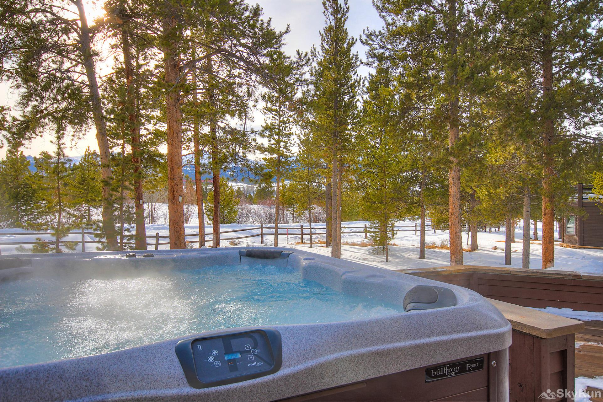 Marksberry Lodge Soak in the private hot tub after a day of fun adventures!