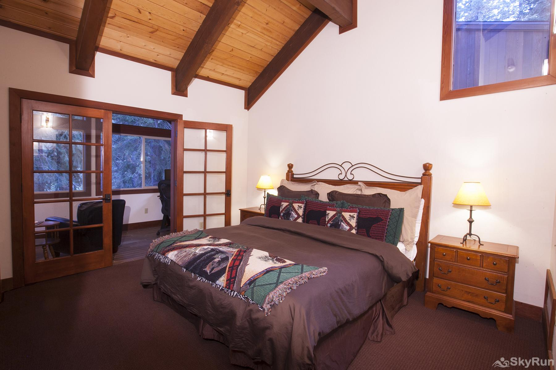 Luxury Lodgepole Home at Northstar Master Ensuite Bedroom 2 (upper level)